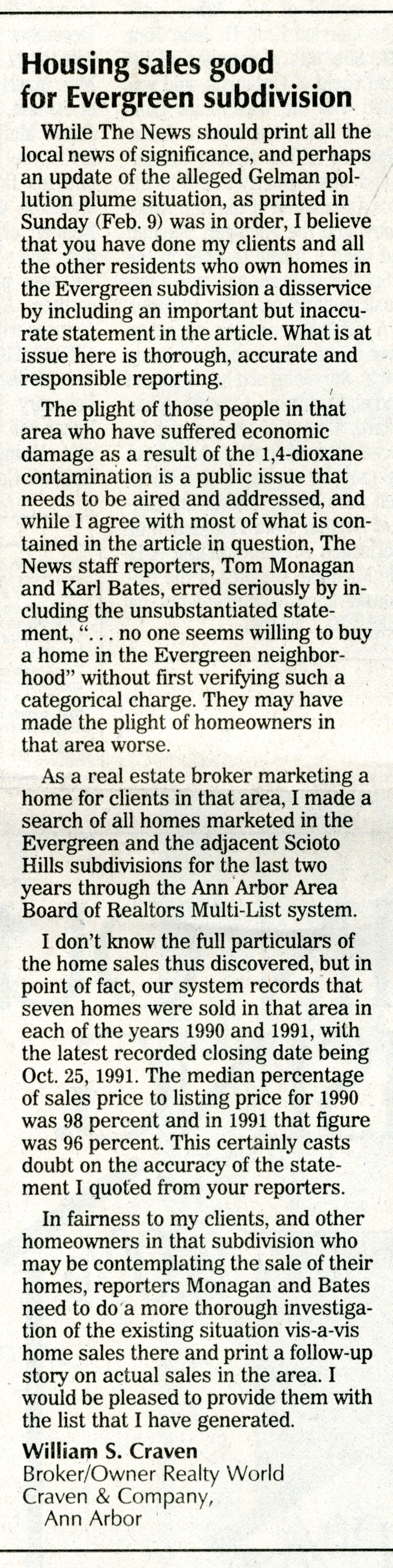 Housing Sales Good for Evergreen Subdivision image