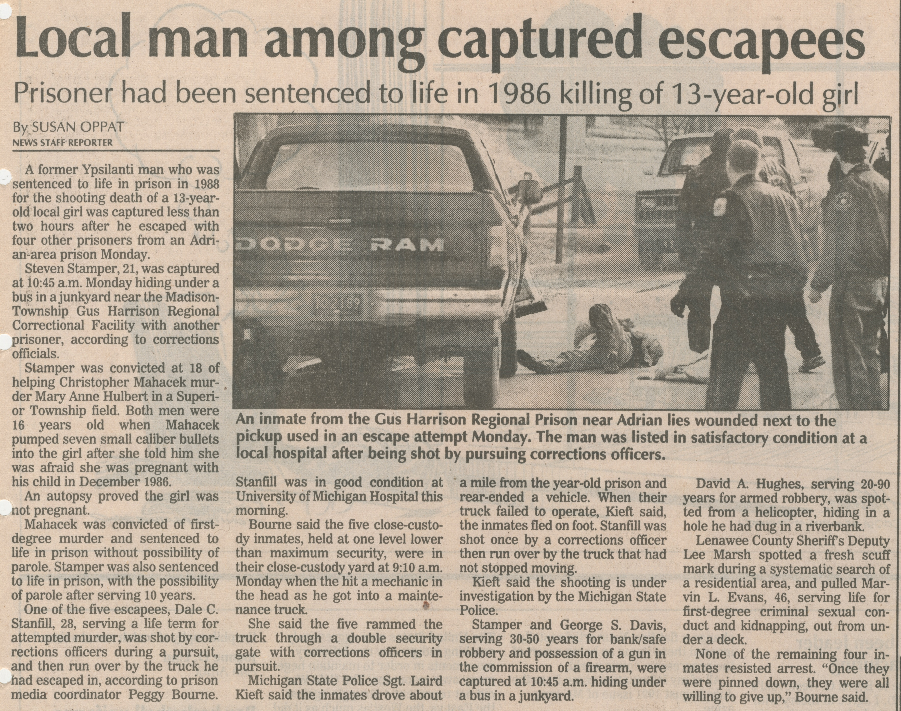 Local Man Among Captured Escapees image