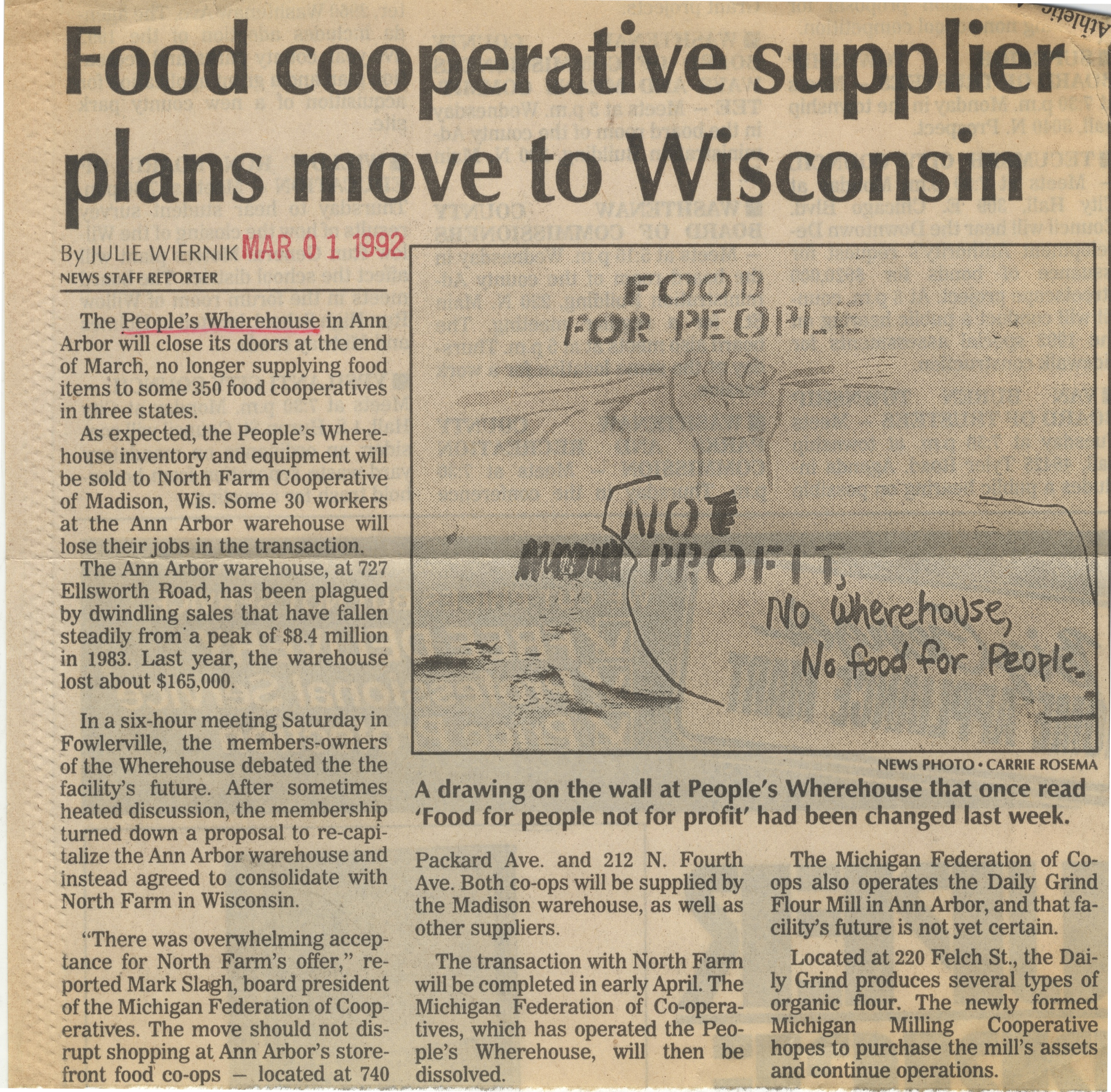 Food Cooperative Supplier Plans Move To Wisconsin image