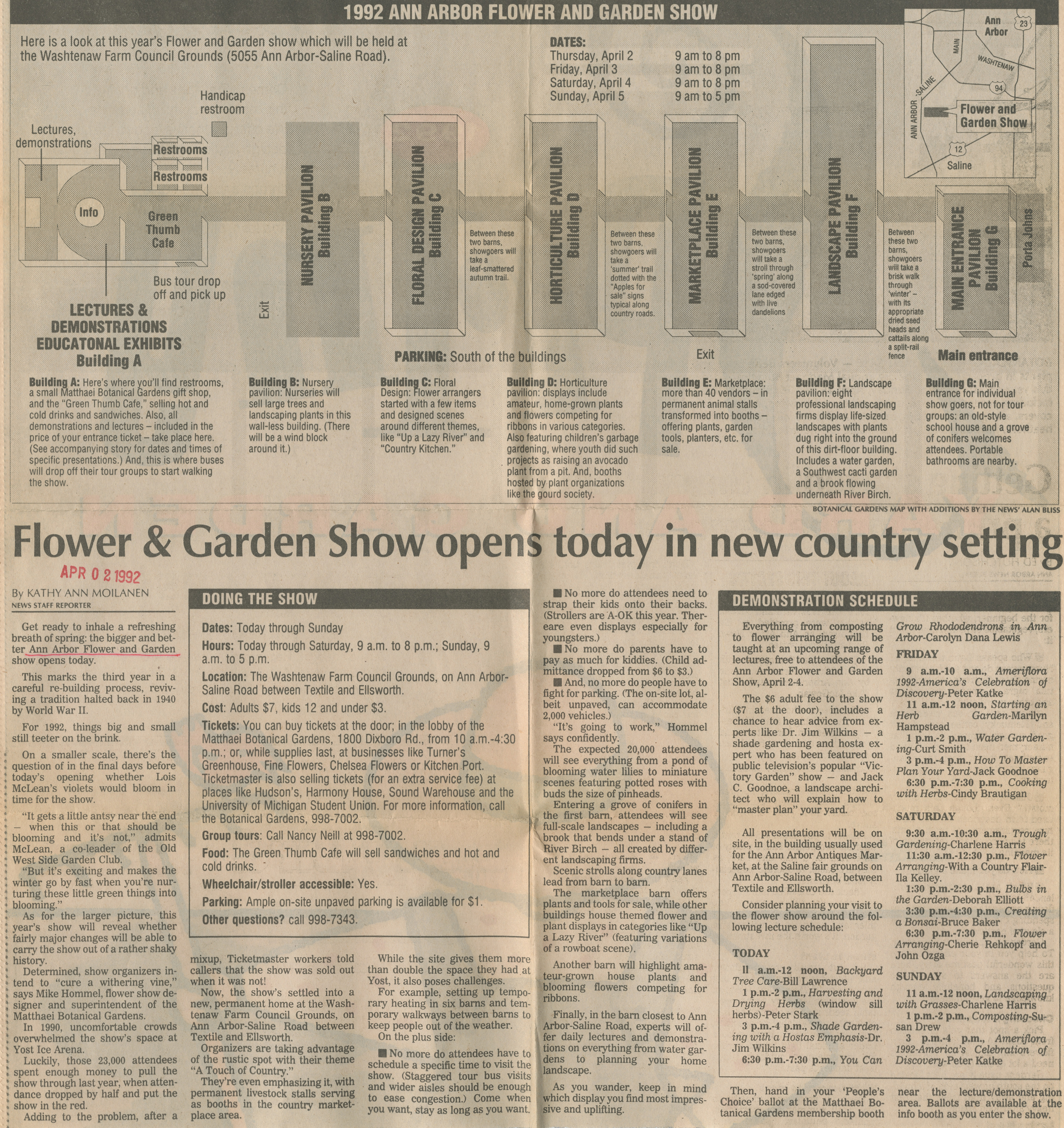 Flower & Garden Show Opens Today in New Country Setting image