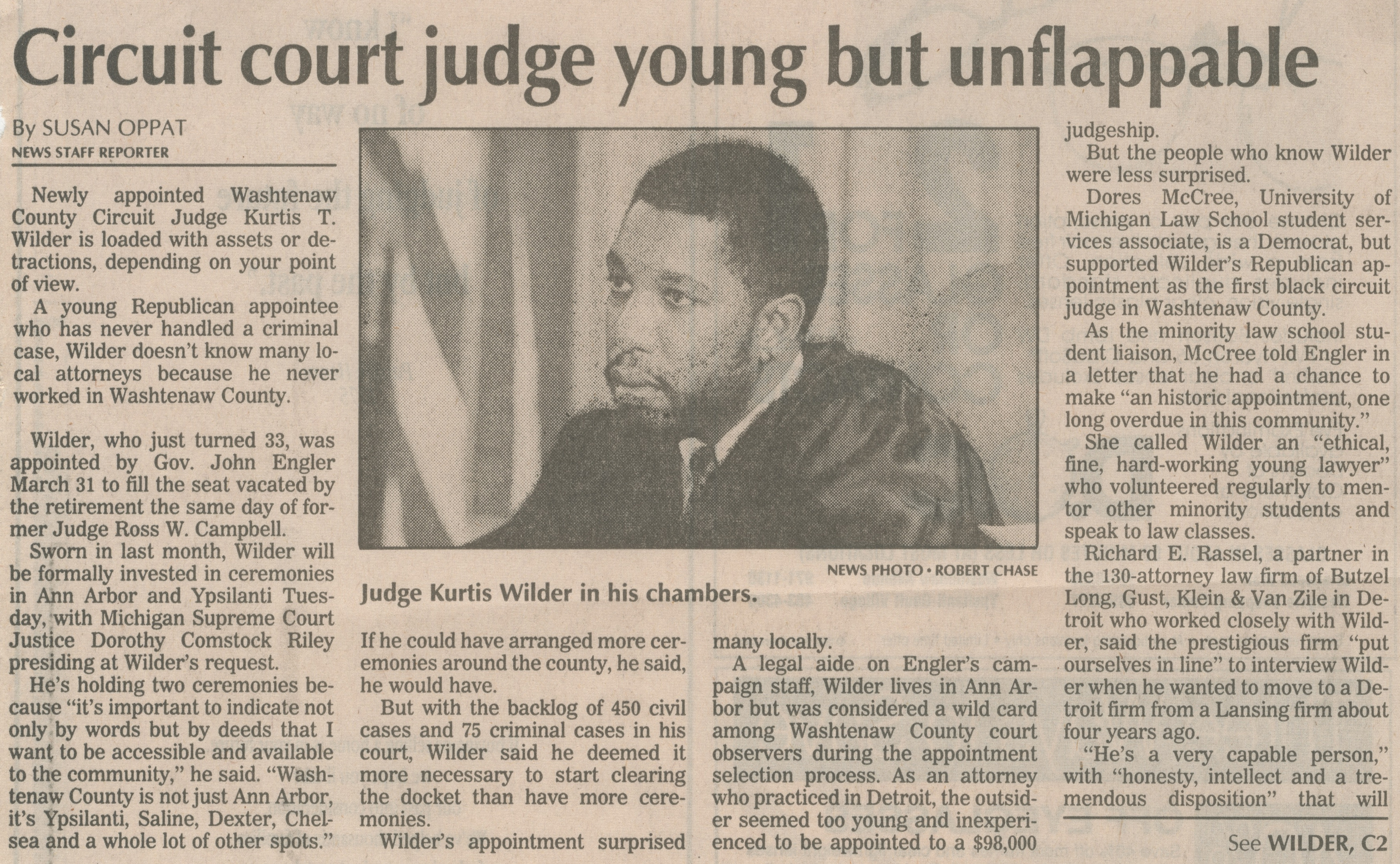 Circuit Court Judge Young But Unflappable image