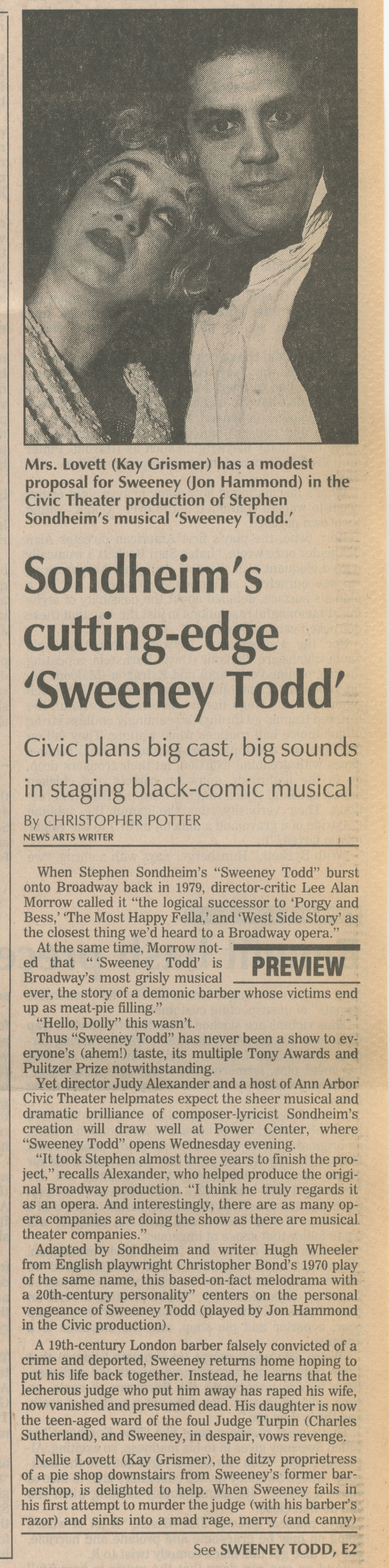 Sondheim's Cutting-Edge 'Sweeney Todd' image