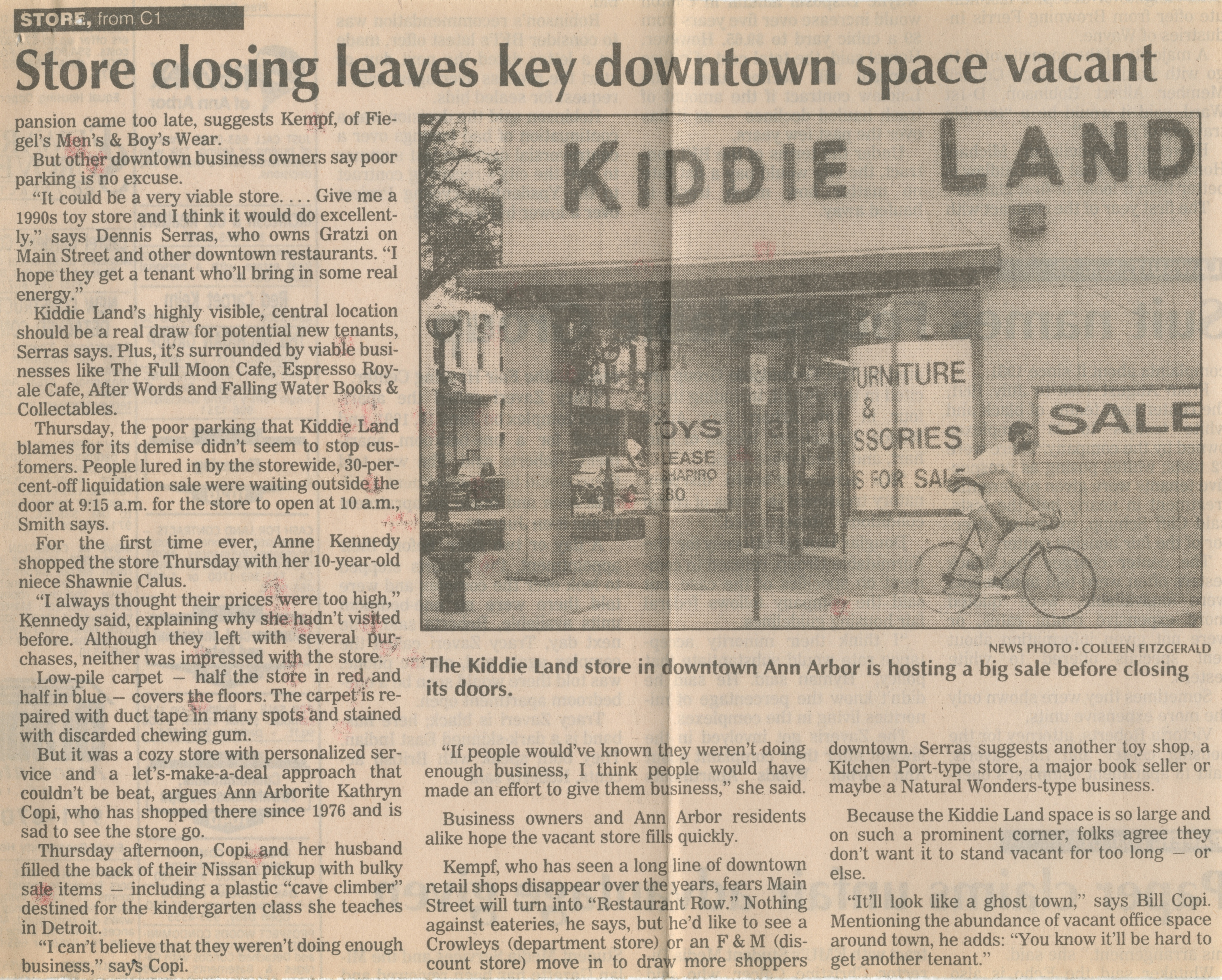 Kiddie Land giving up on downtown image