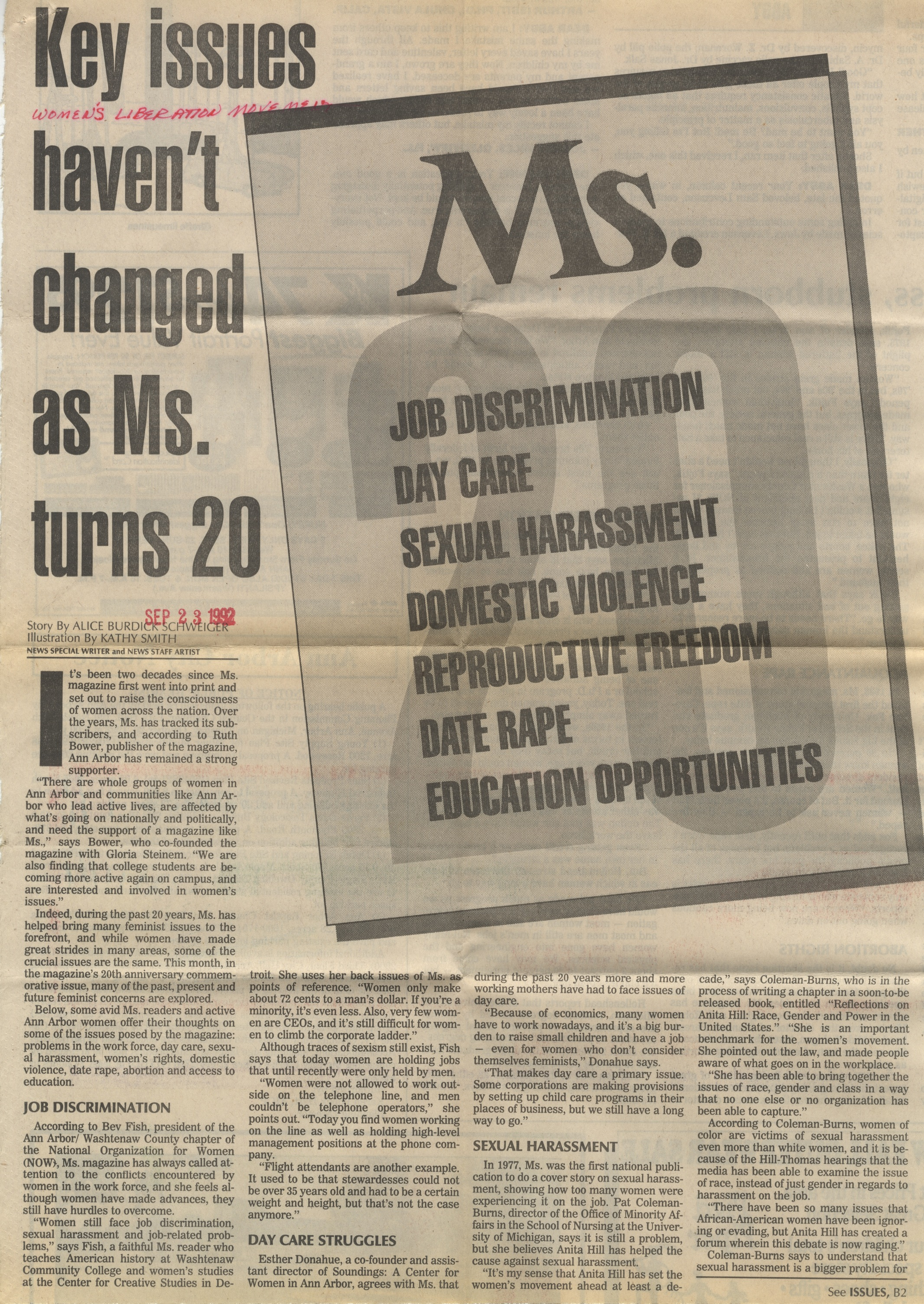 Key Issues Haven't Changed As Ms. Turns 20 image