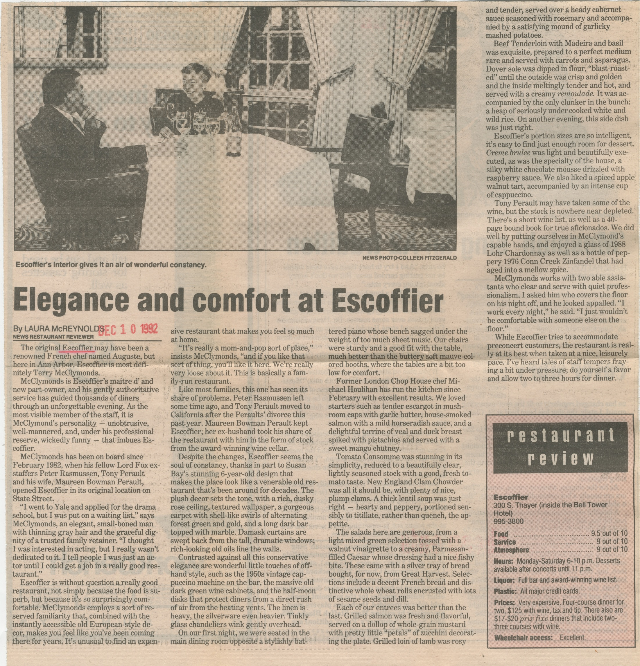 Elegance And Comfort At Escoffier image