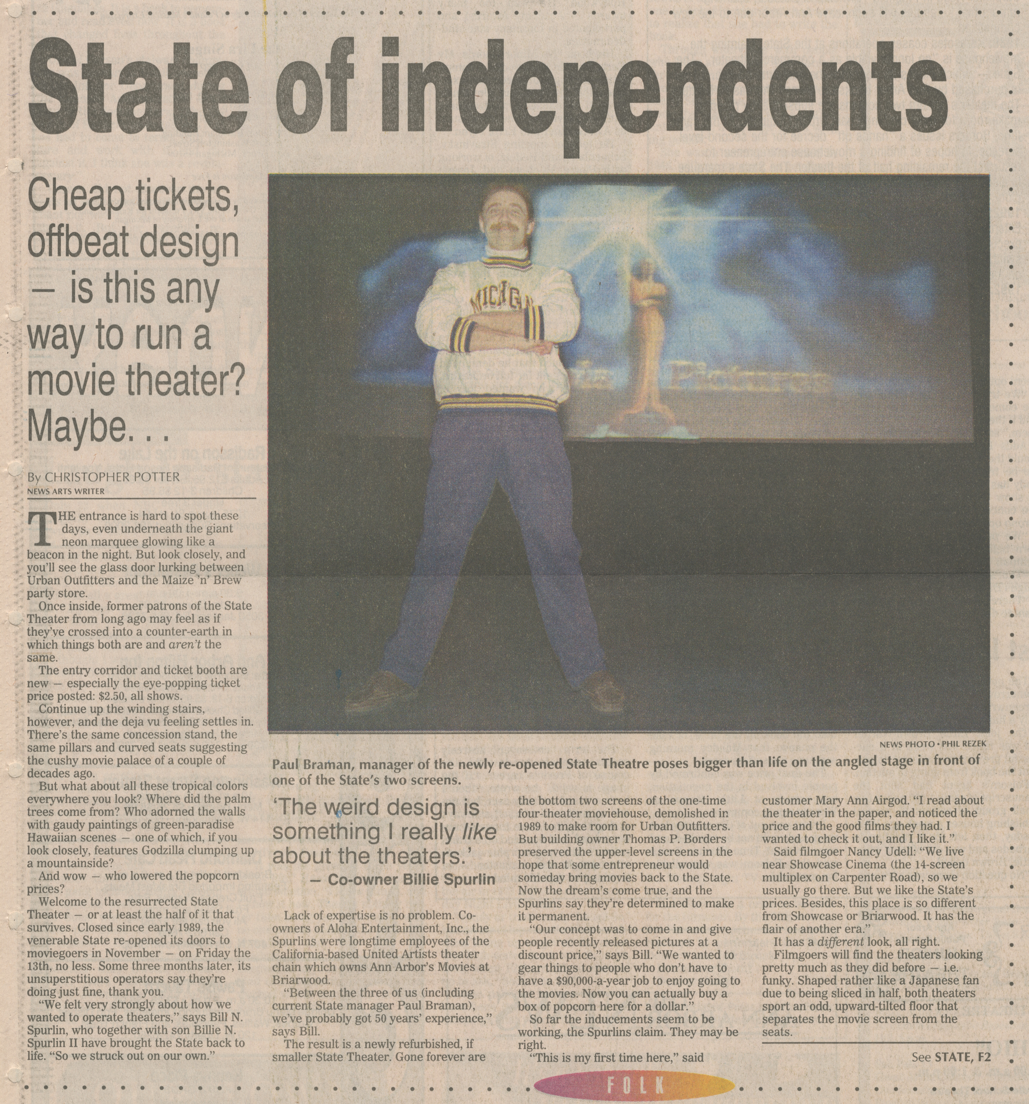 State Of Independents - Cheap Tickets, Offbeat Design -- Is This Any Way To Run A Movie Theater? Maybe image
