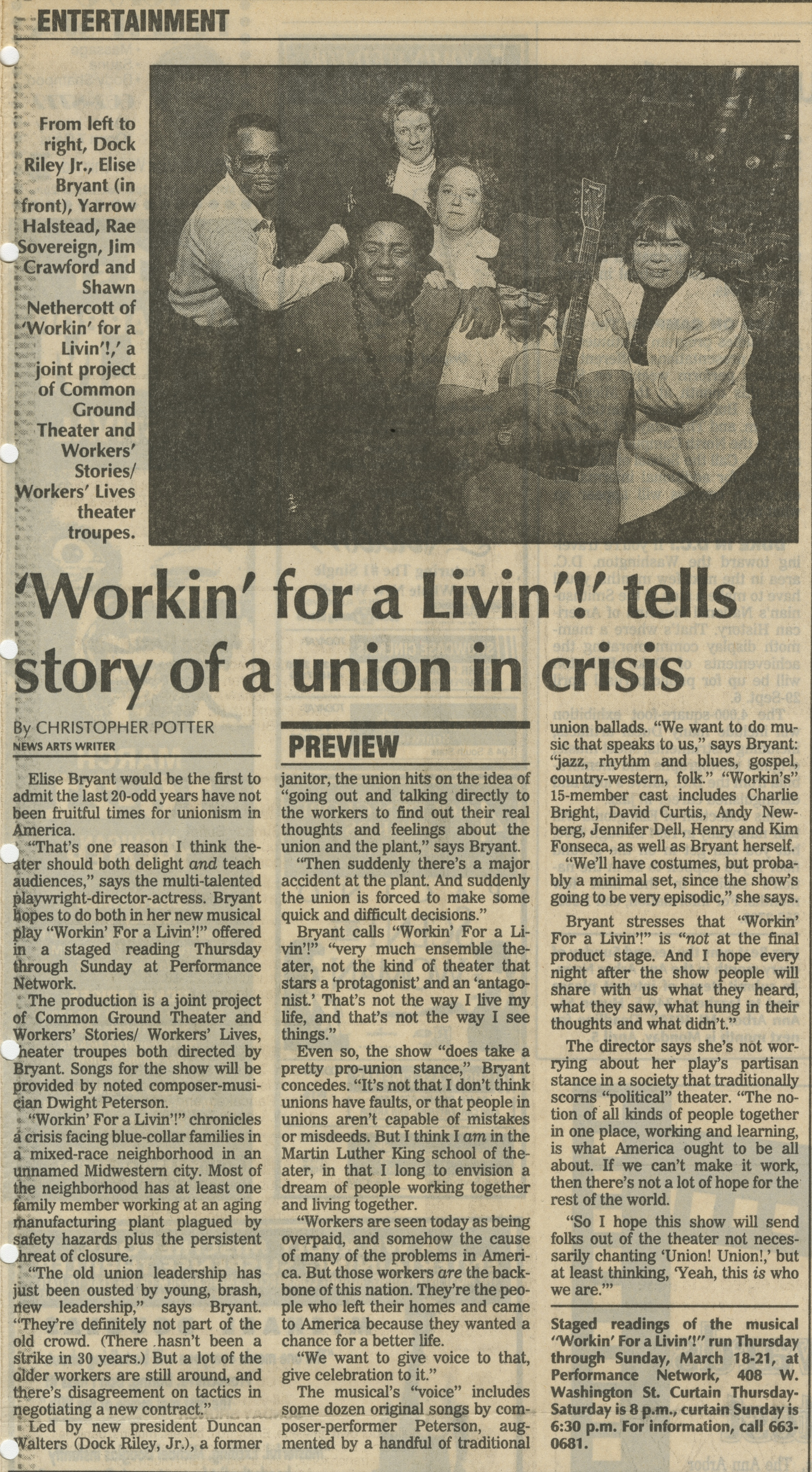 'Workin' for a Livin'!' tells story of a union in crisis image