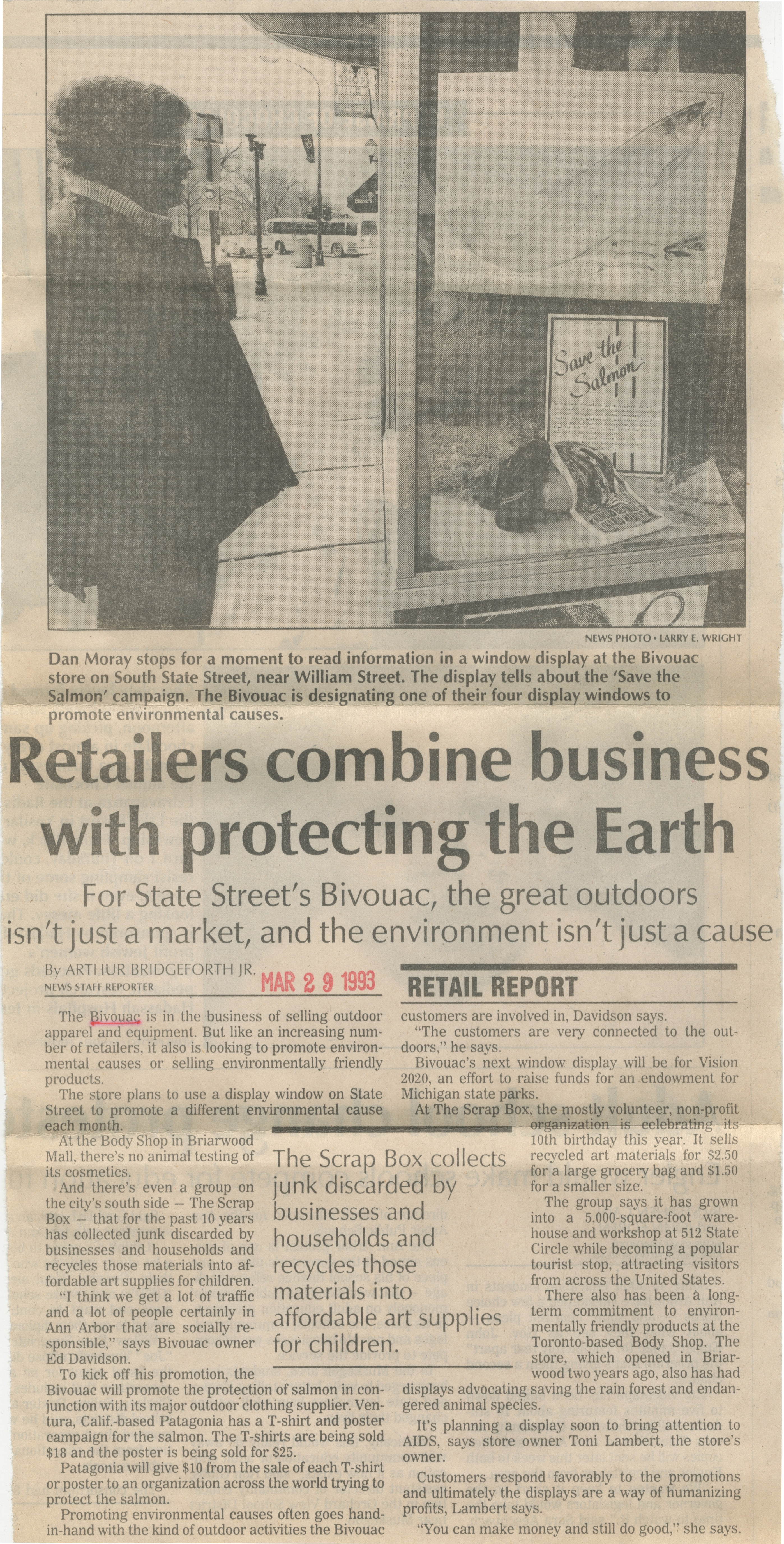 Retailers Combine Business With Protecting The Earth image