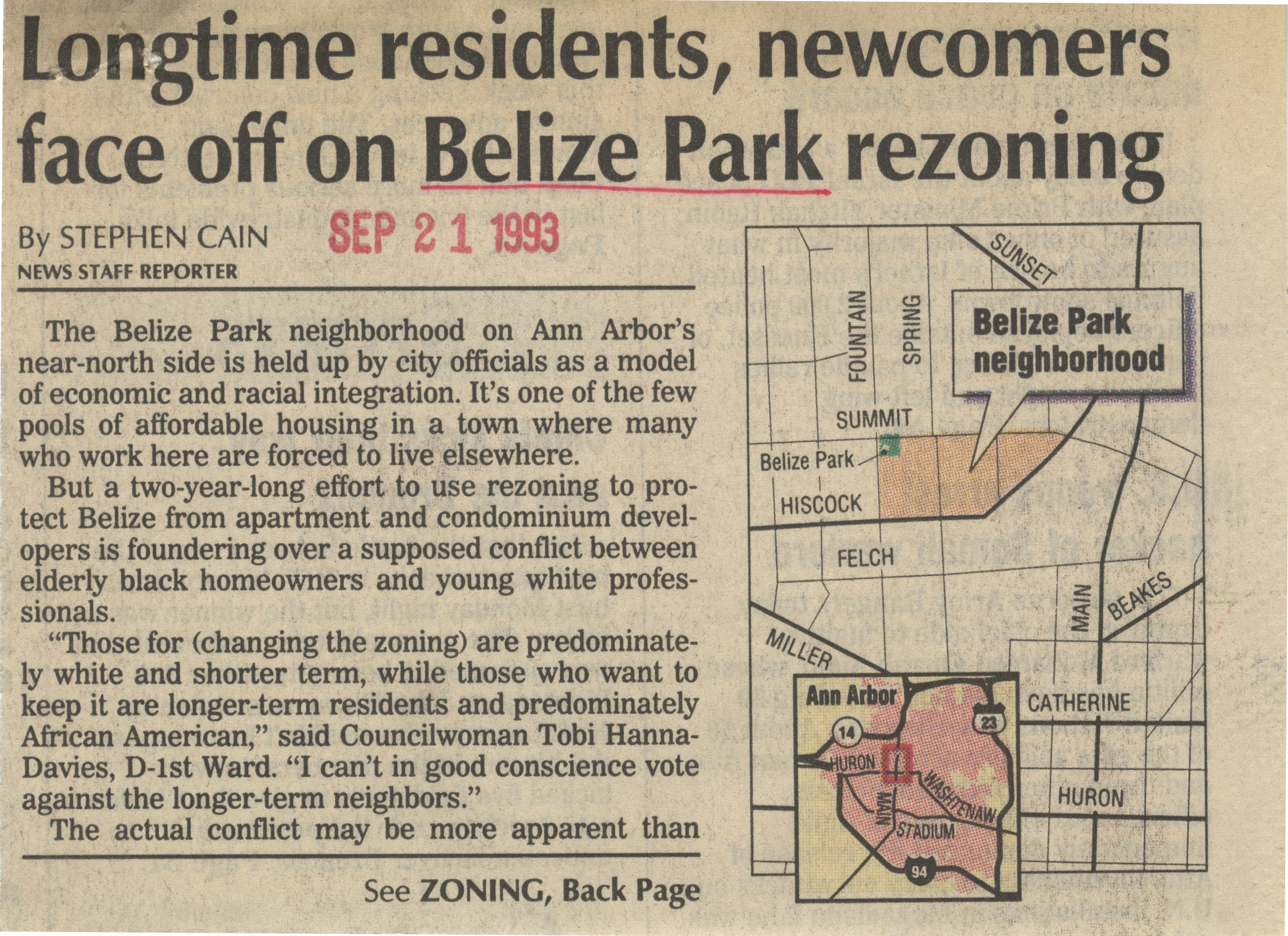 Longtime Residents, Newcomers Face Off On Belize Park Rezoning image