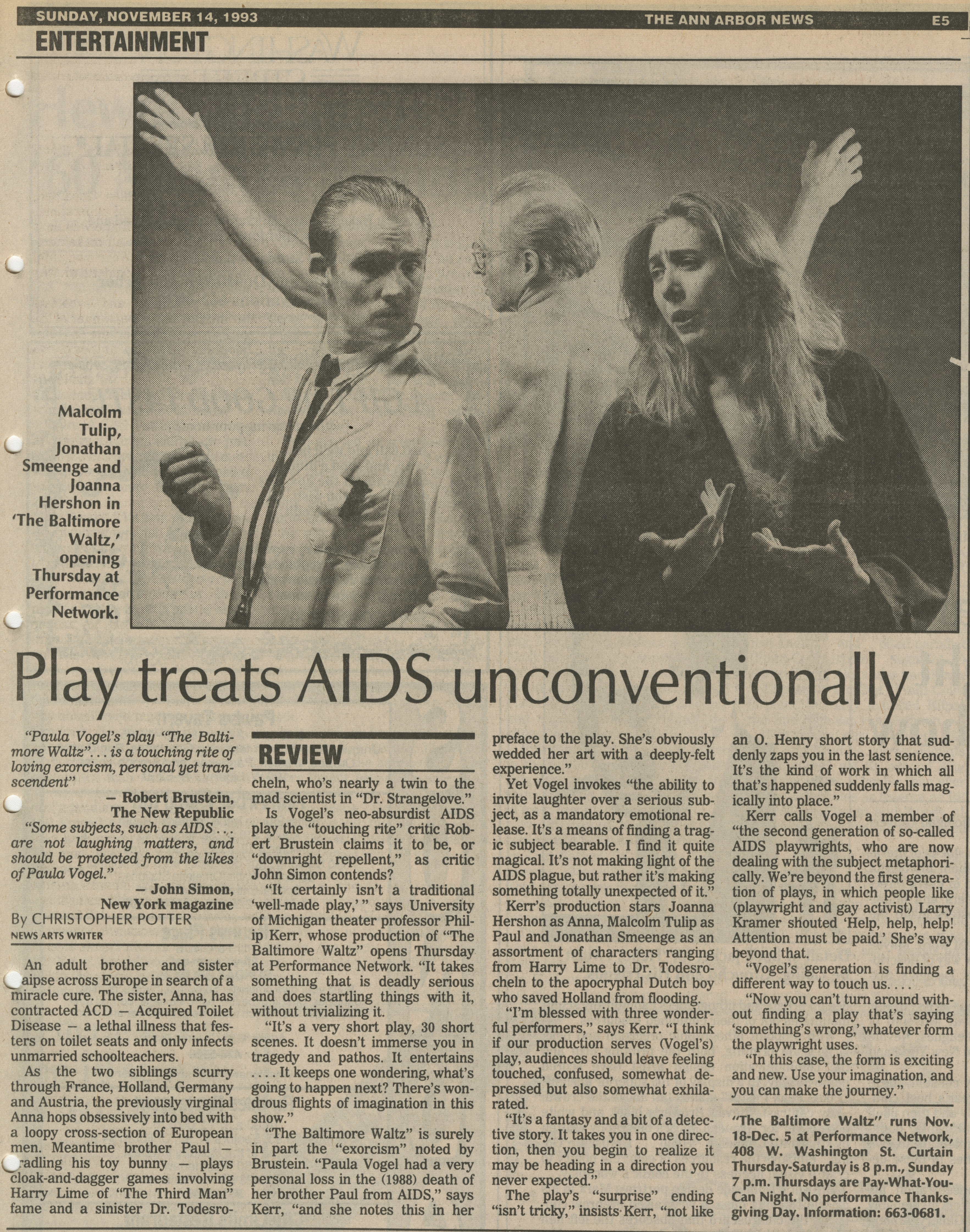 Play treats AIDS unconventionally image