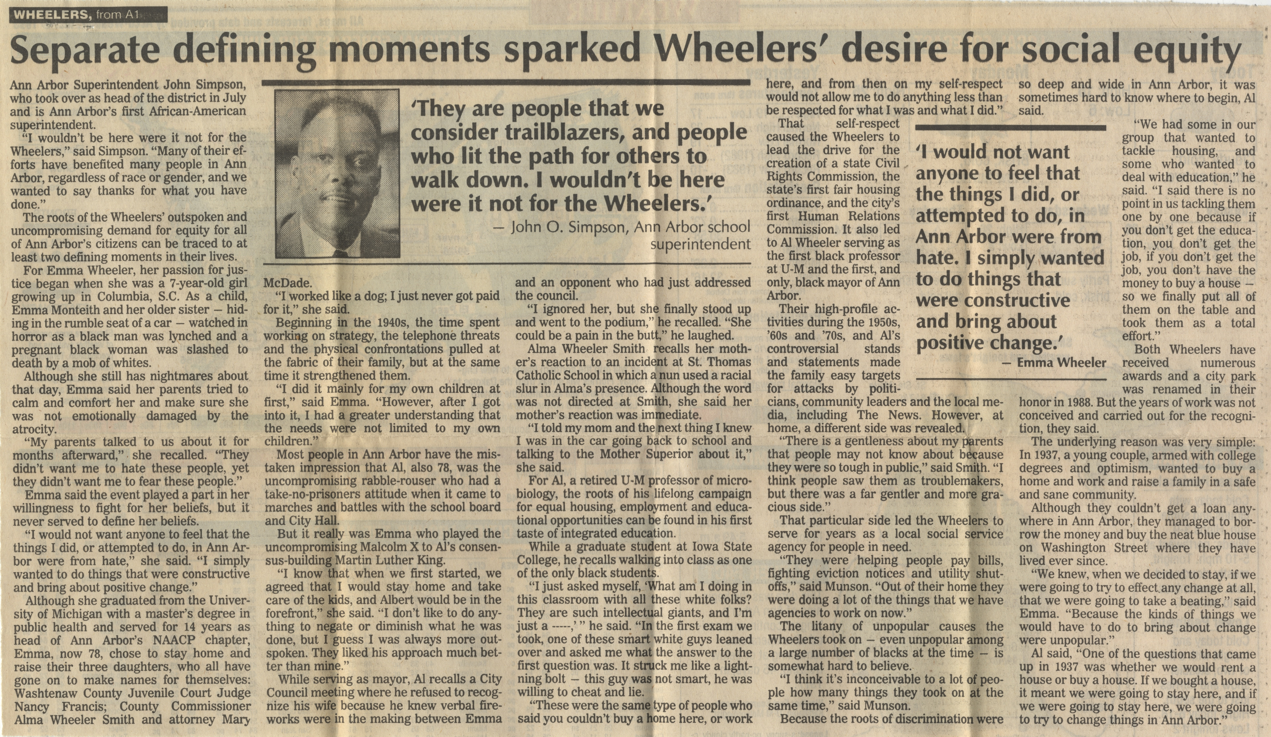 Pioneers: Wheelers Led The Way For Civil Rights image