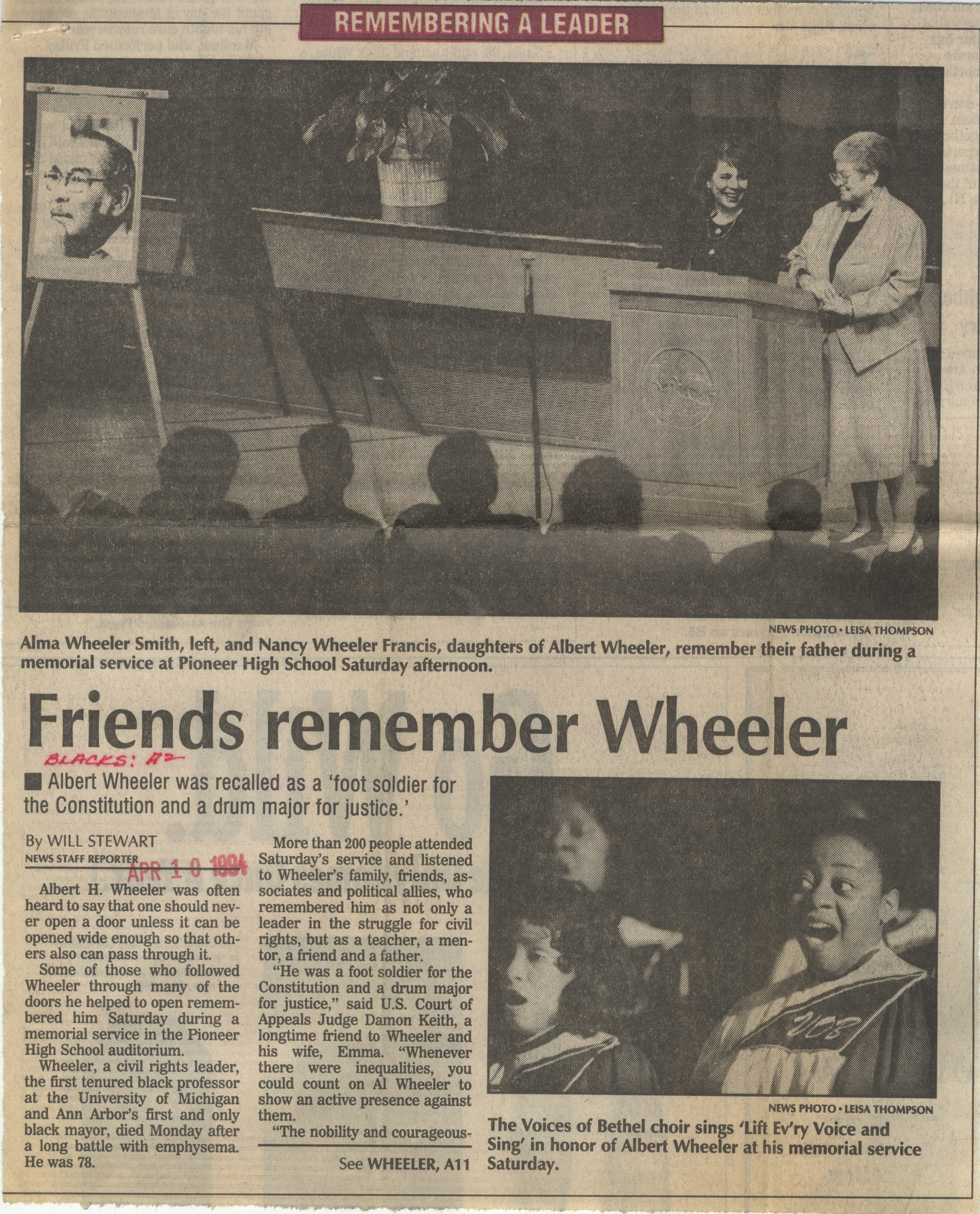 Friends Remember Wheeler image