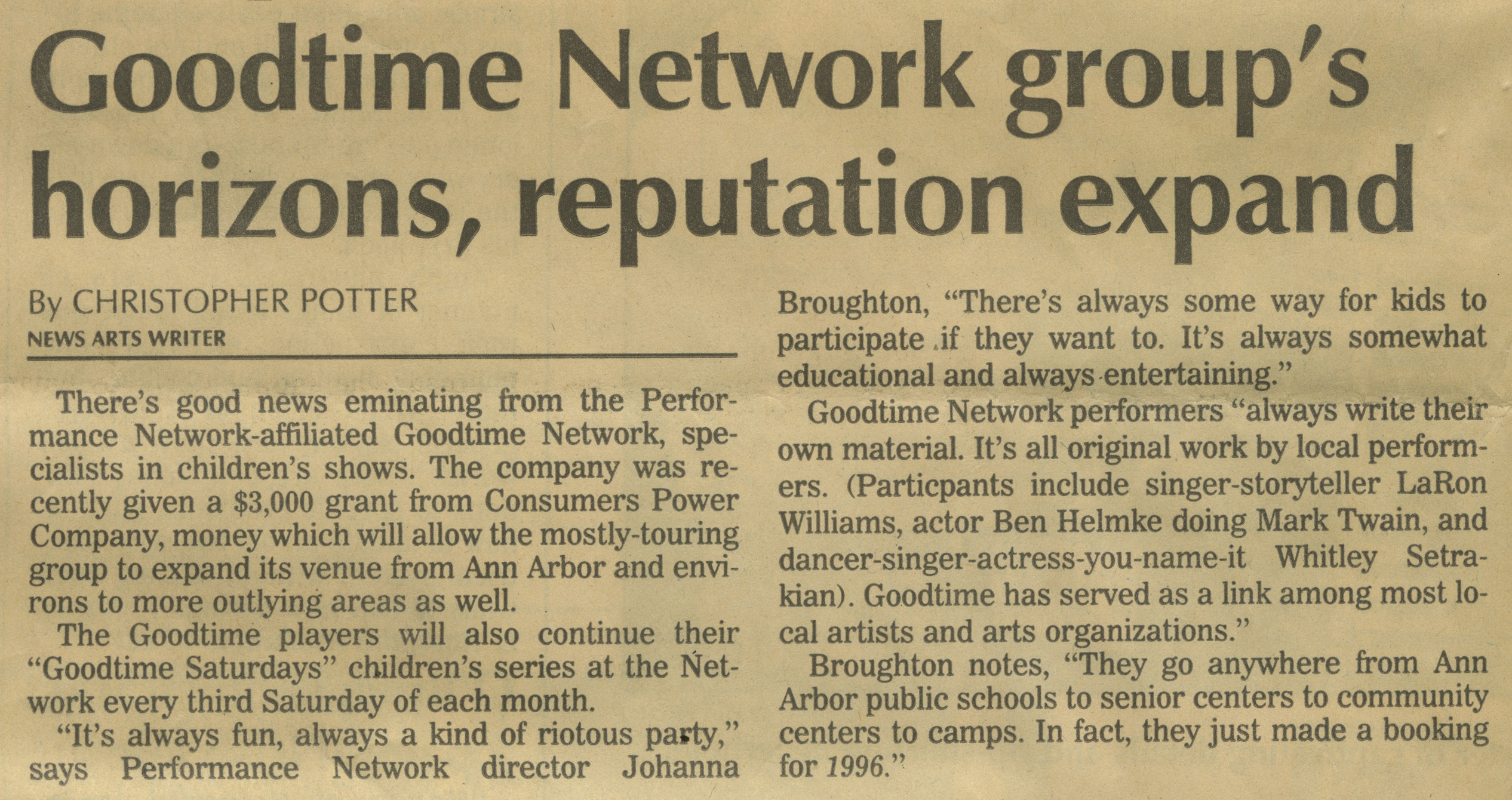 Goodtime Network group's horizons, reputation expand image