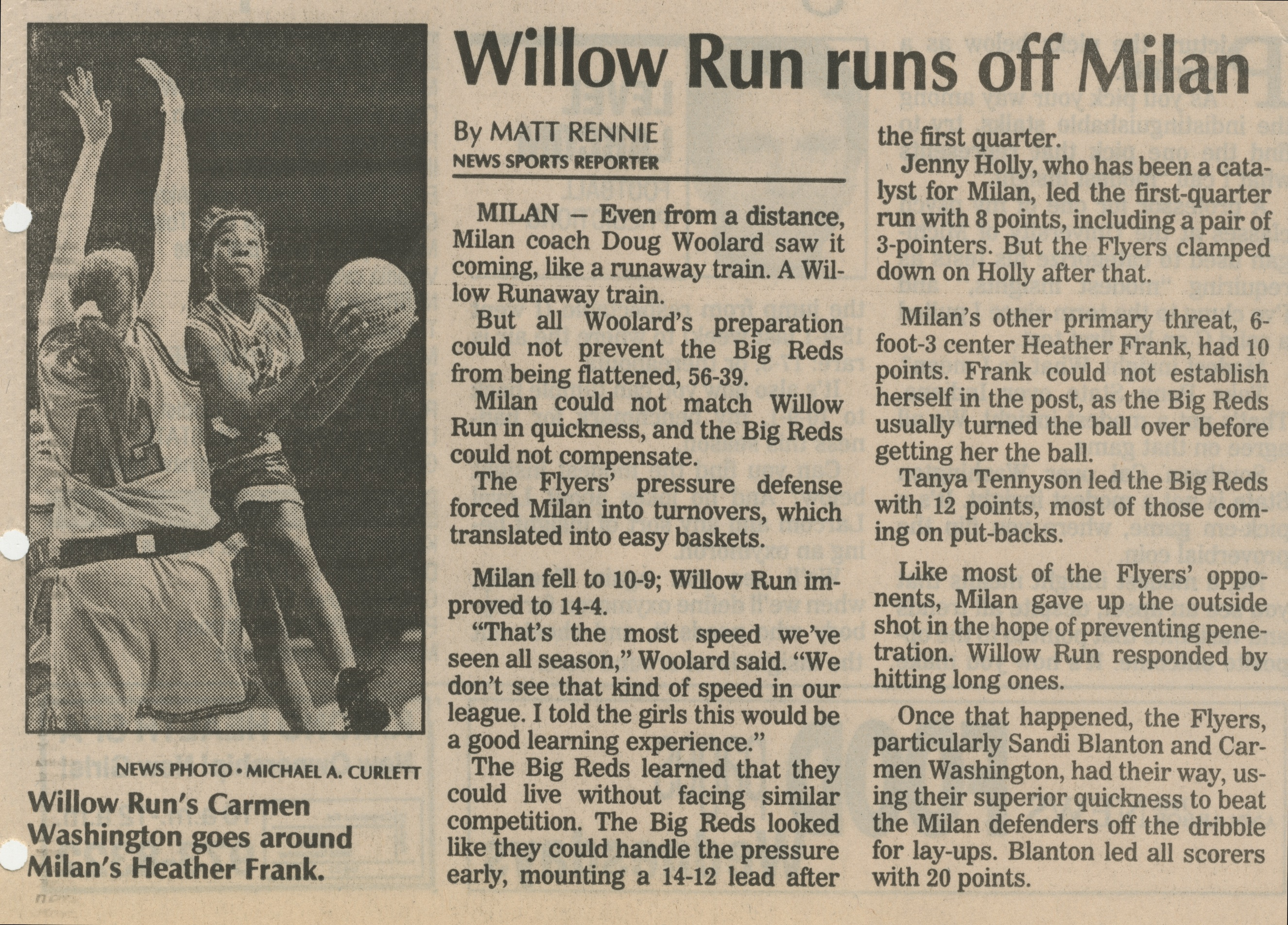 Willow Run Runs Off Milan image