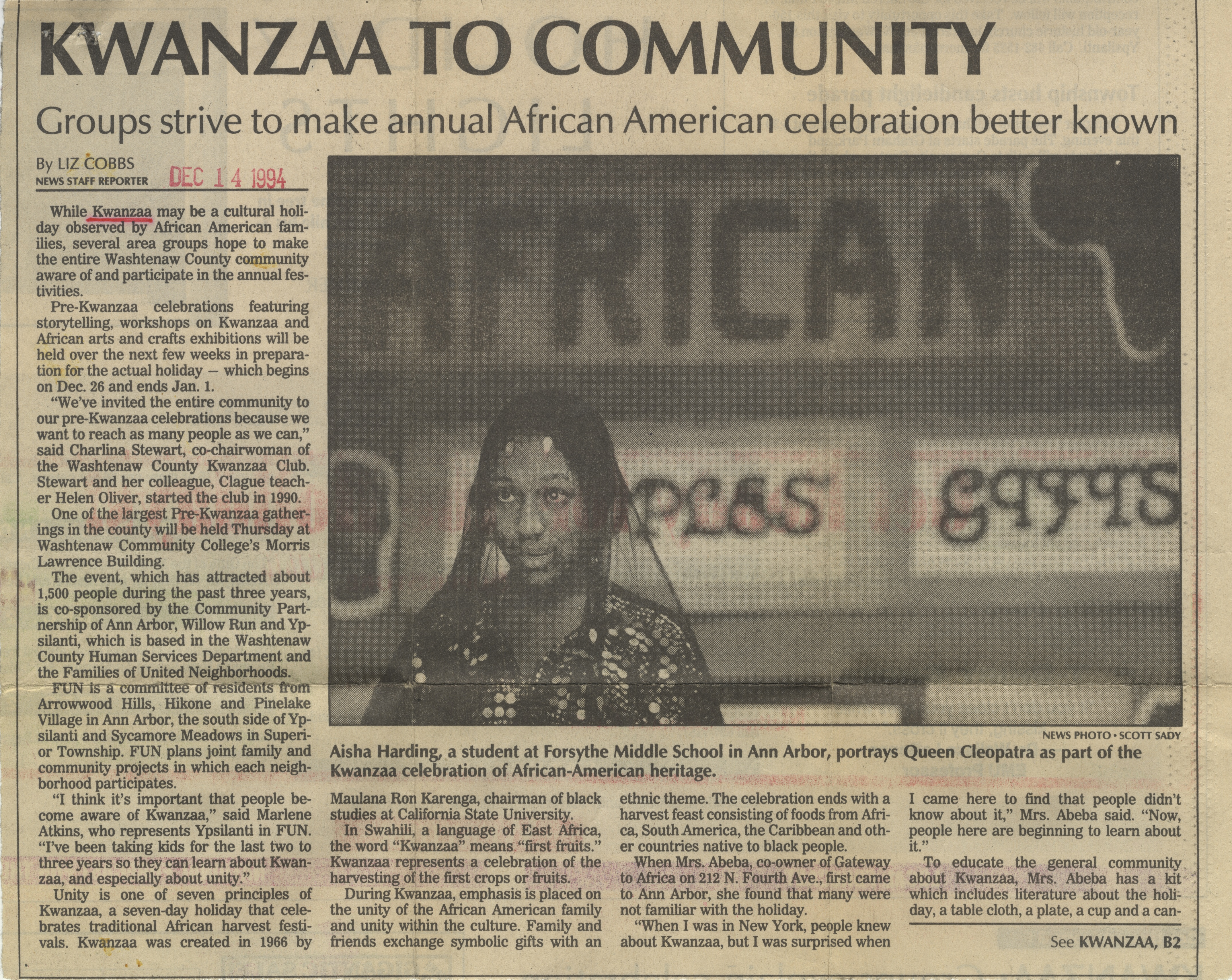 Kwanzaa To Community image