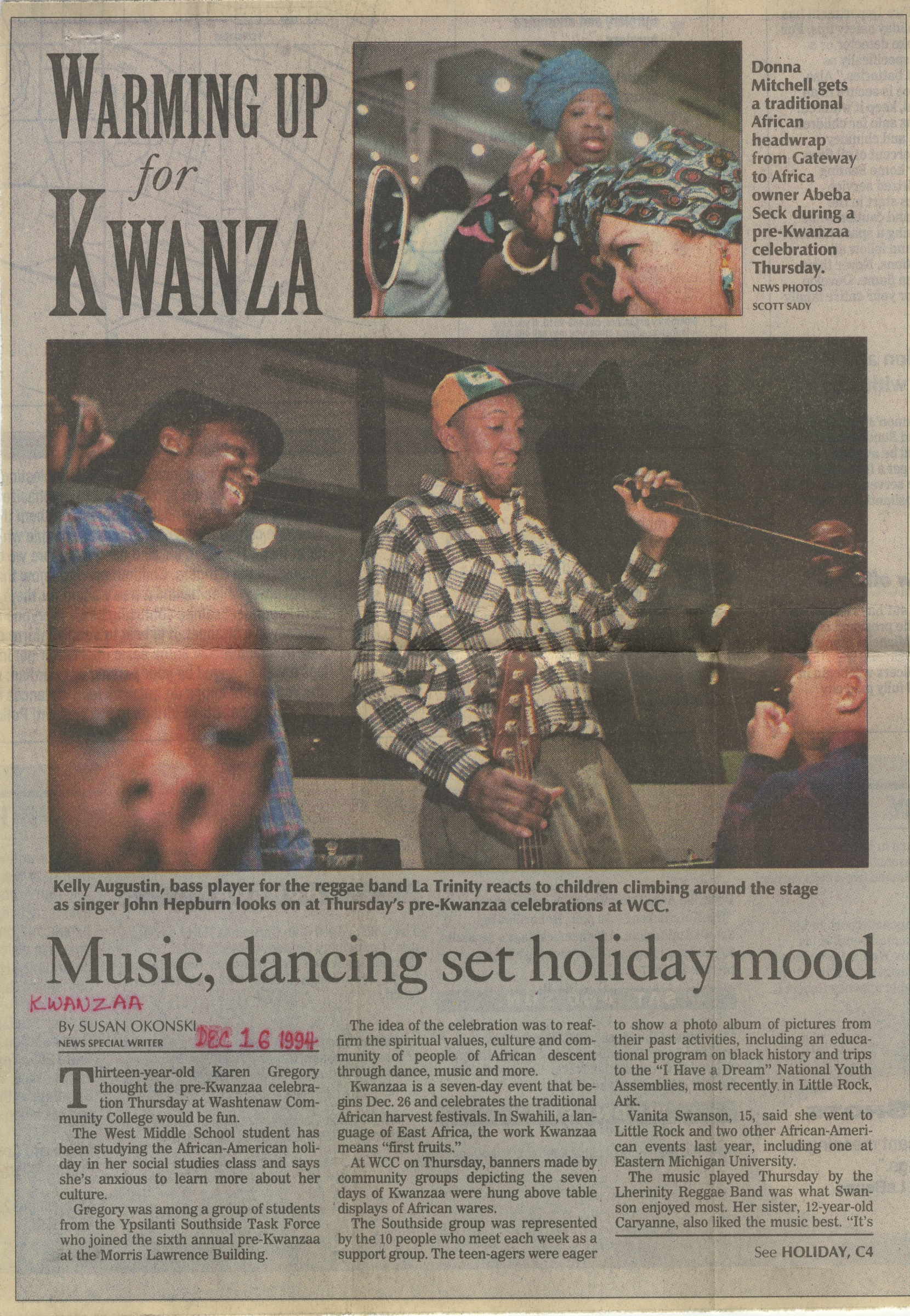 Warming Up For Kwanzaa image