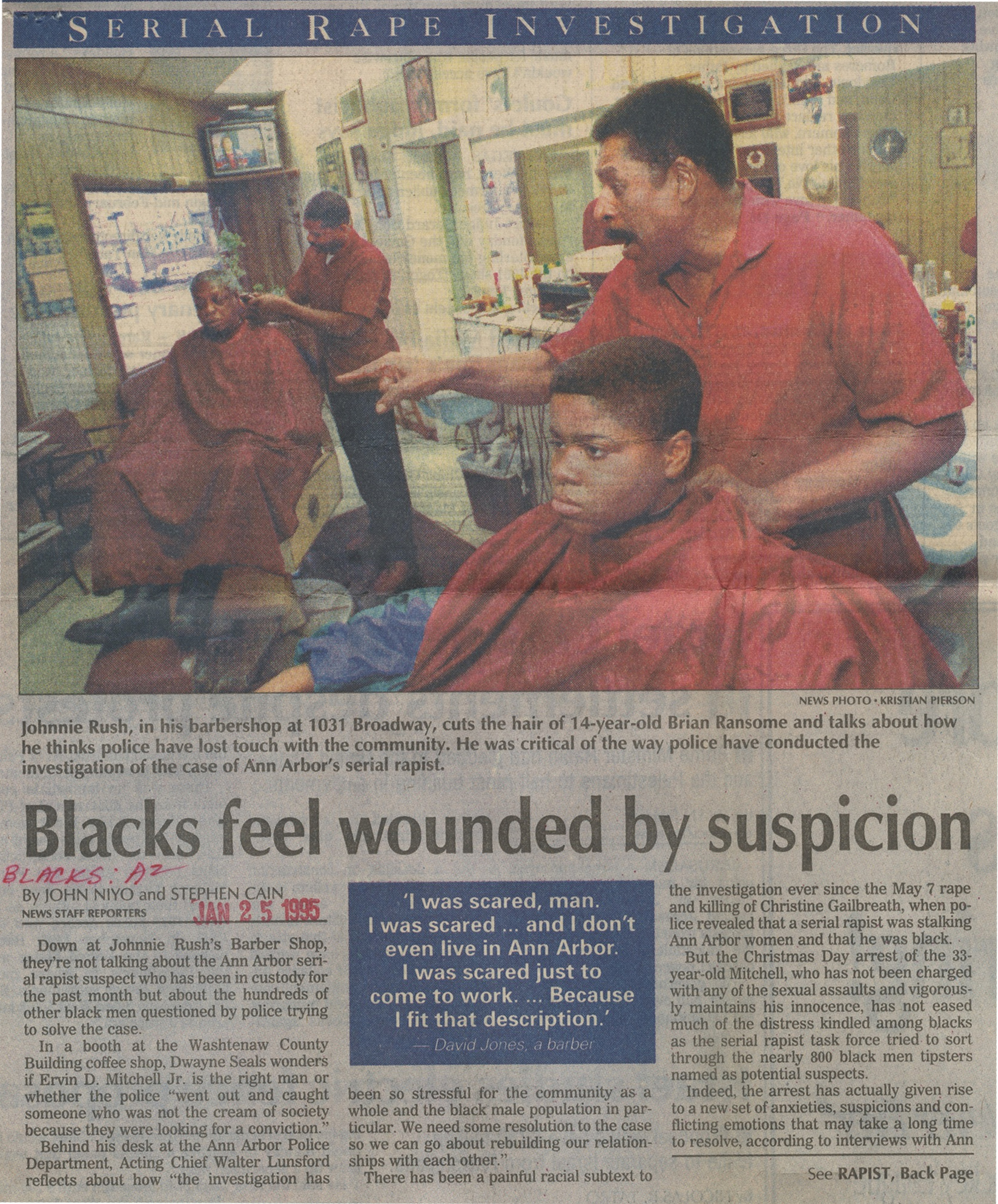 Blacks Feel Wounded By Suspicion image