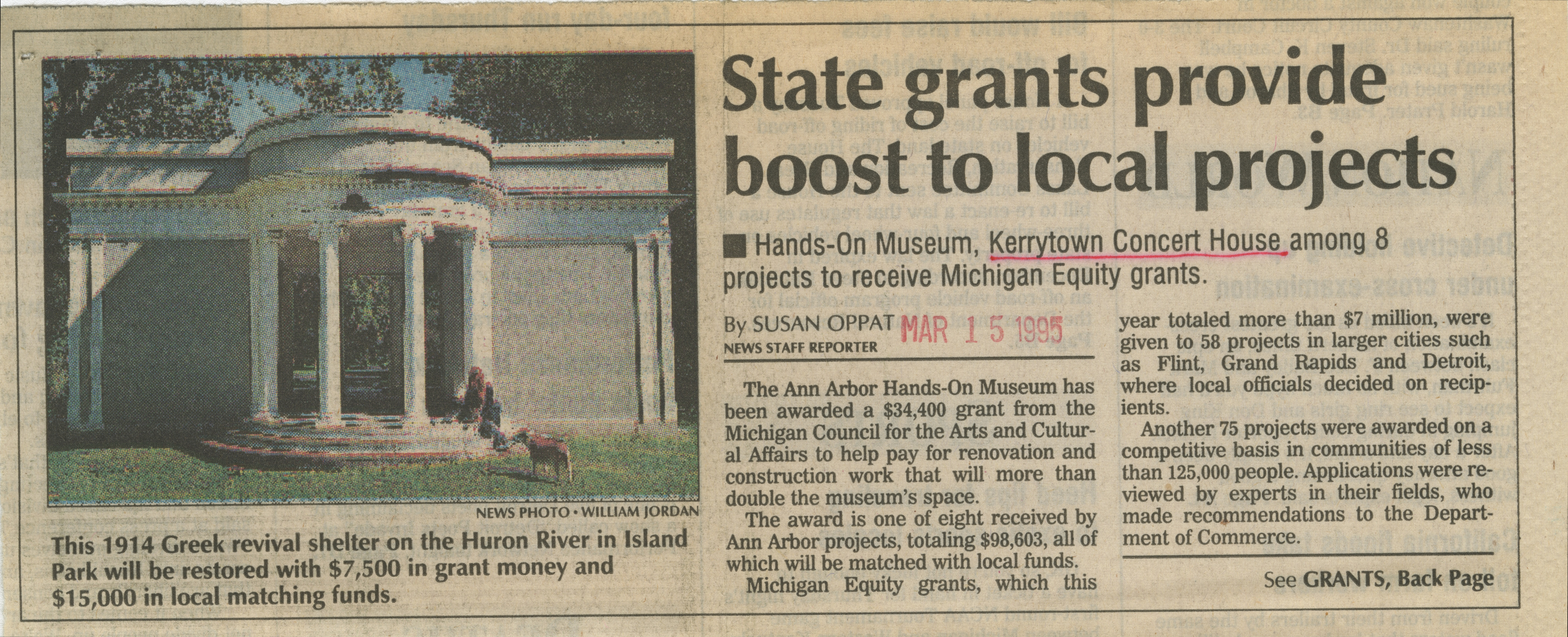 State grants provide boost to local projects image