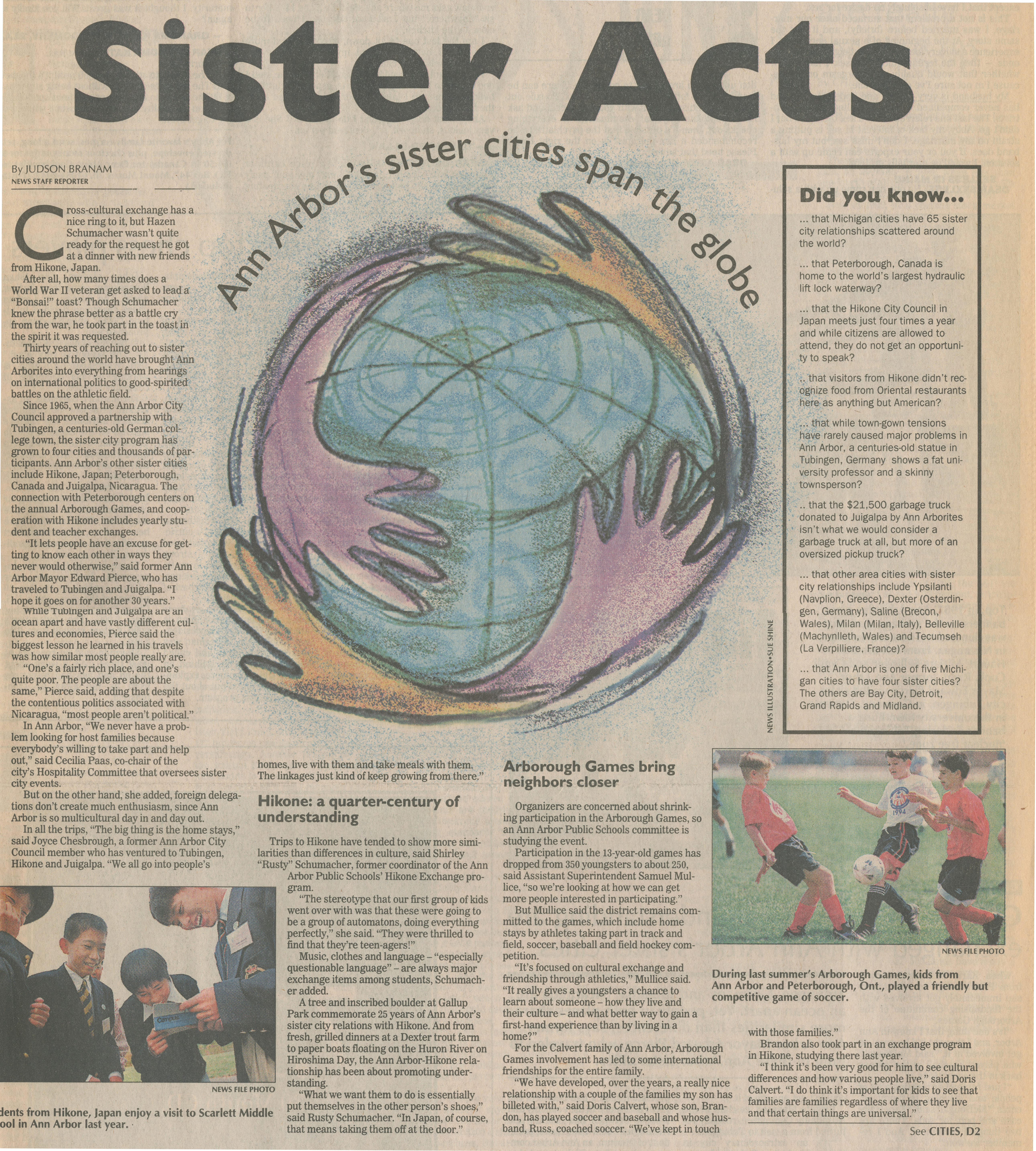 Sister Acts - Ann Arbor's Sister Cities Span The Globe image