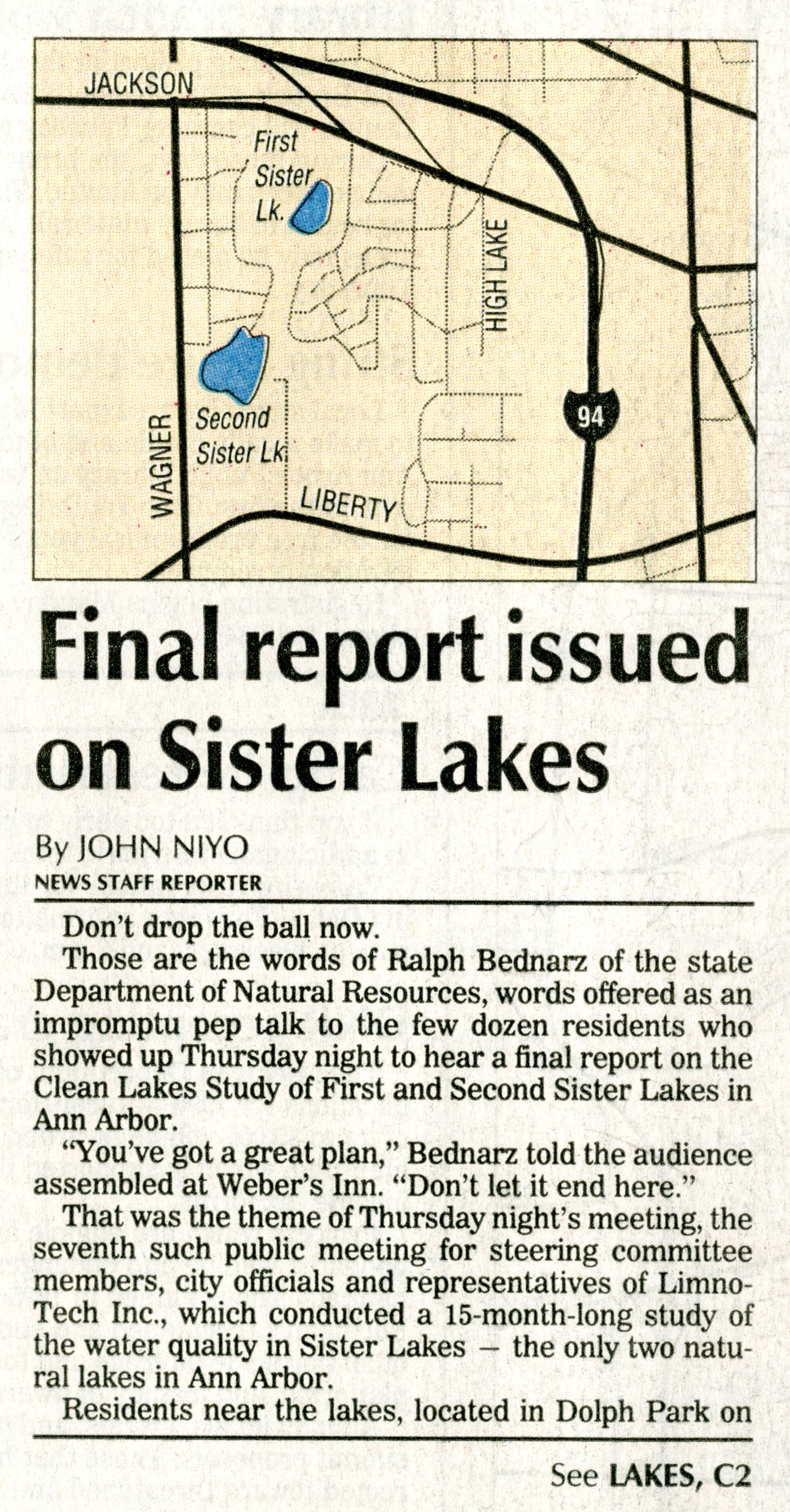 Final Report Issued on Sister Lakes image