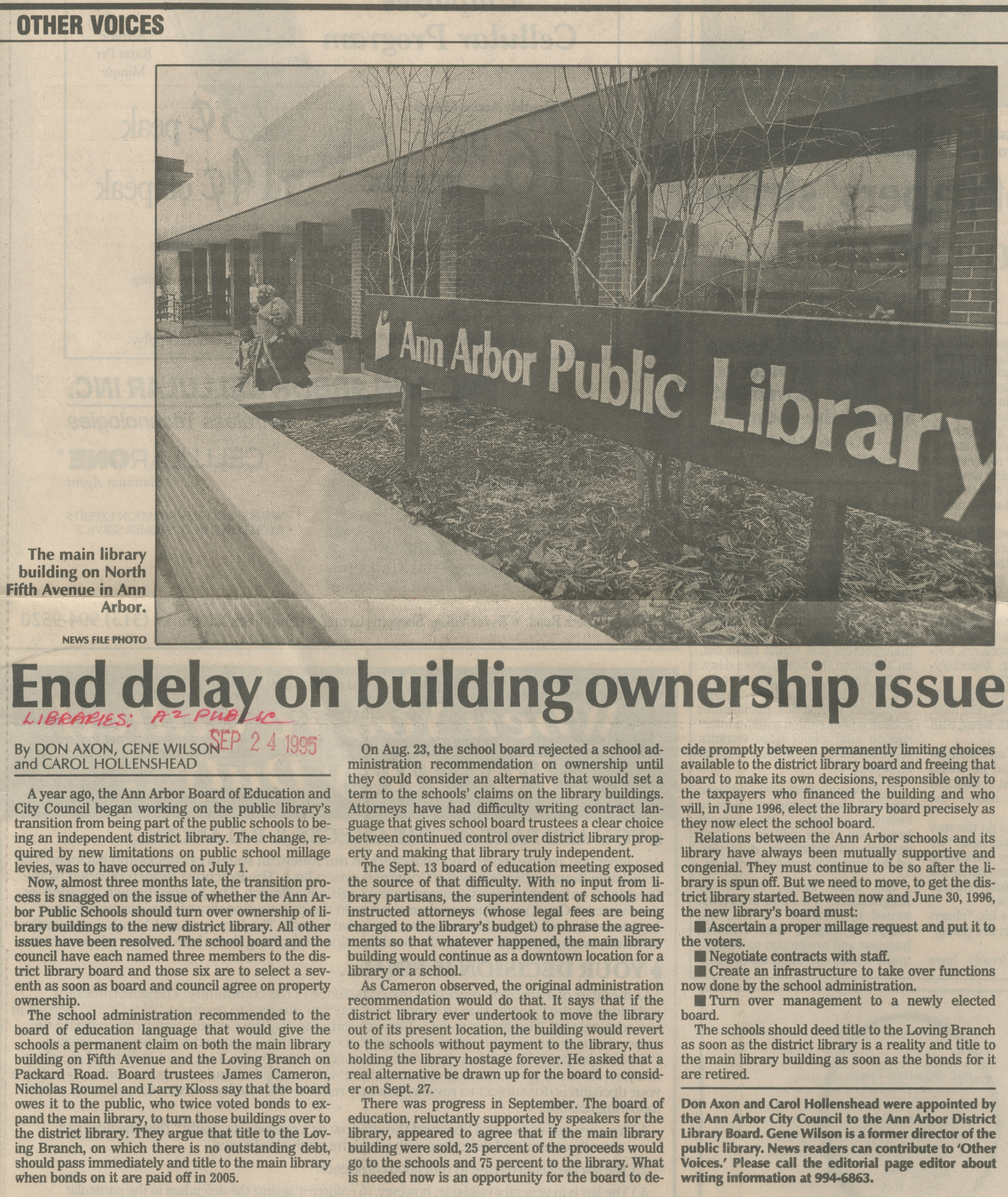 End Delay On Building Ownership Issue image