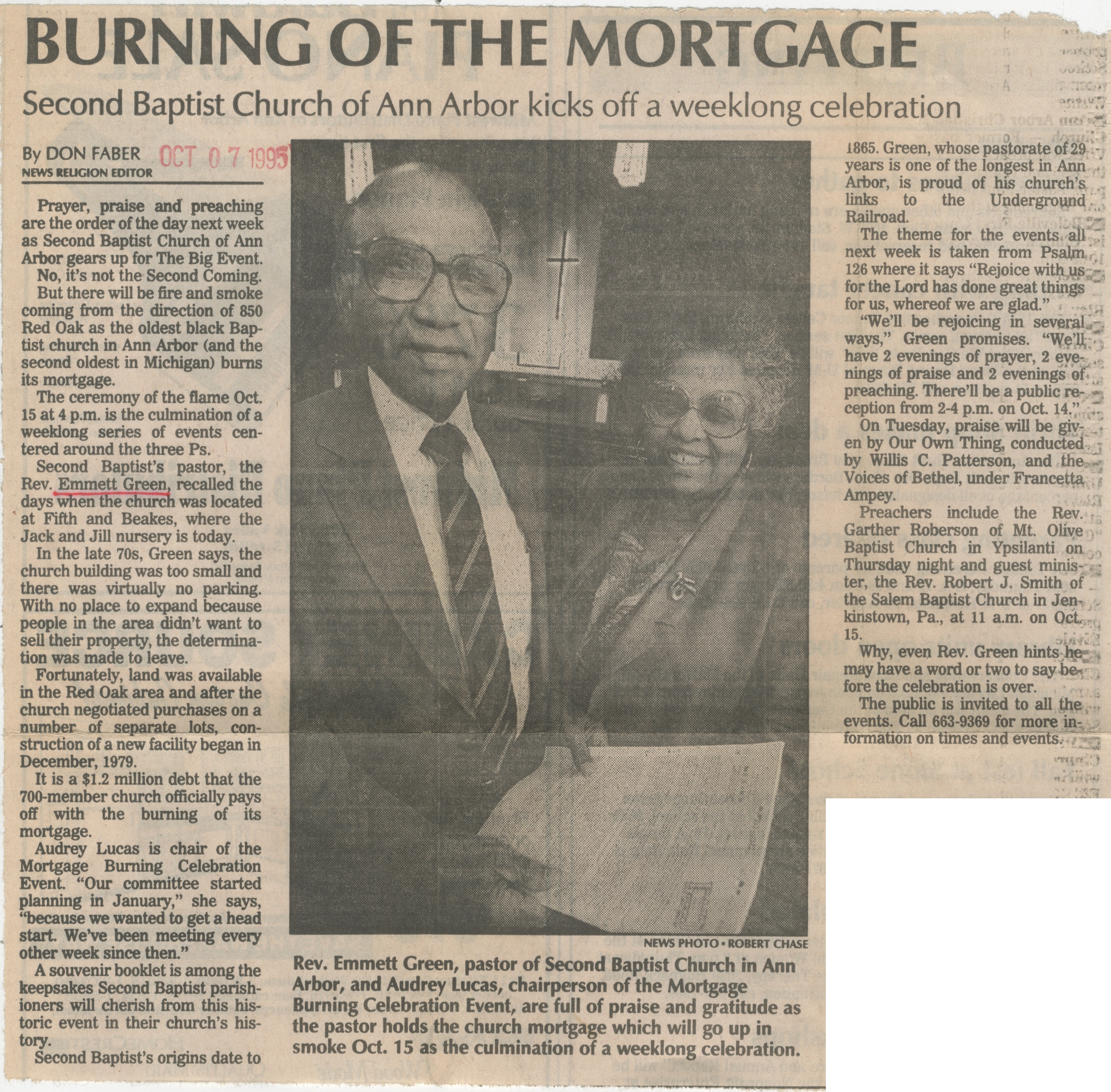 Burning Of The Mortgage image