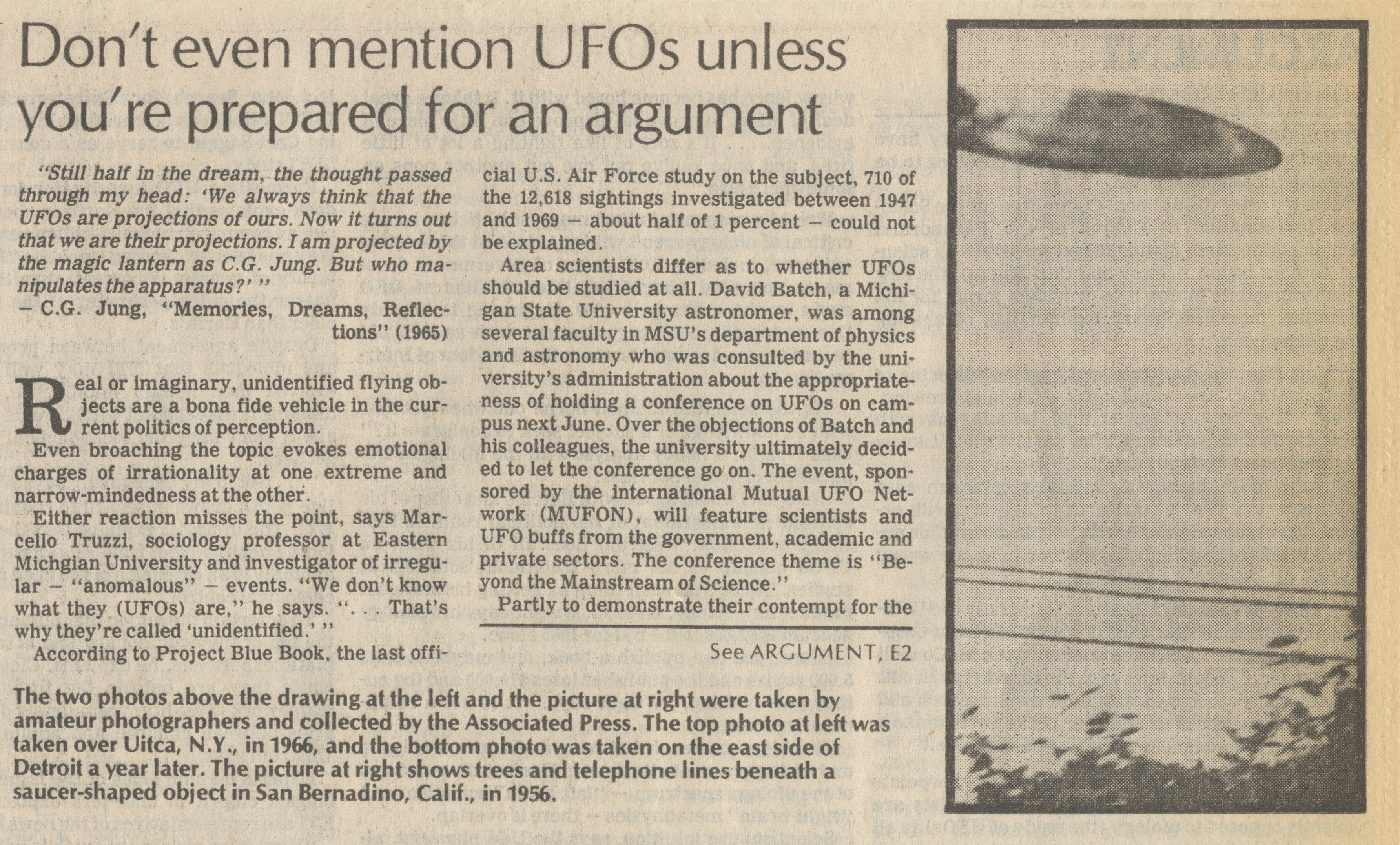 Don't Even Mention UFOs Unless You're Prepared For an Argument image