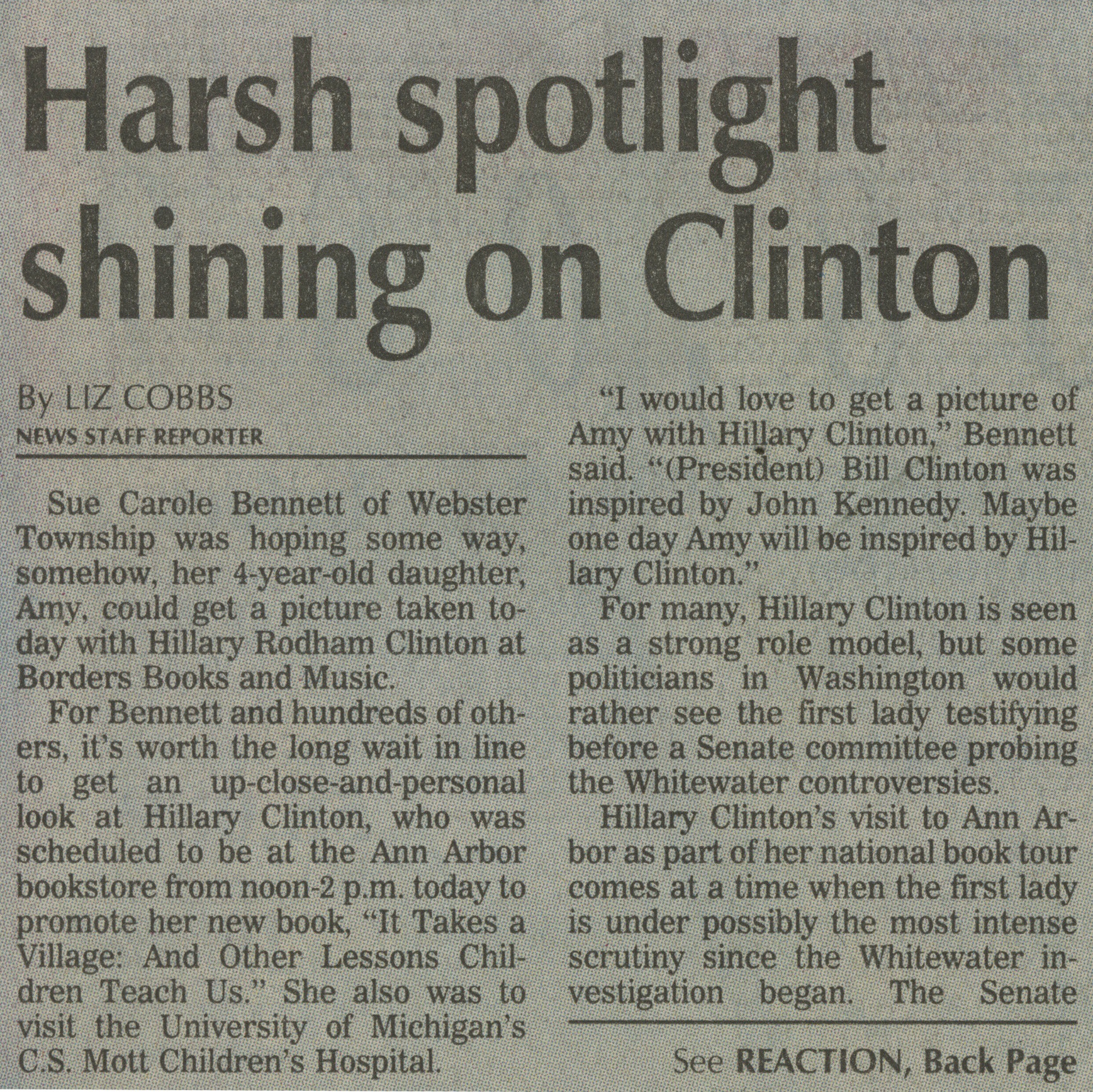Harsh Spotlight Shining On Clinton image