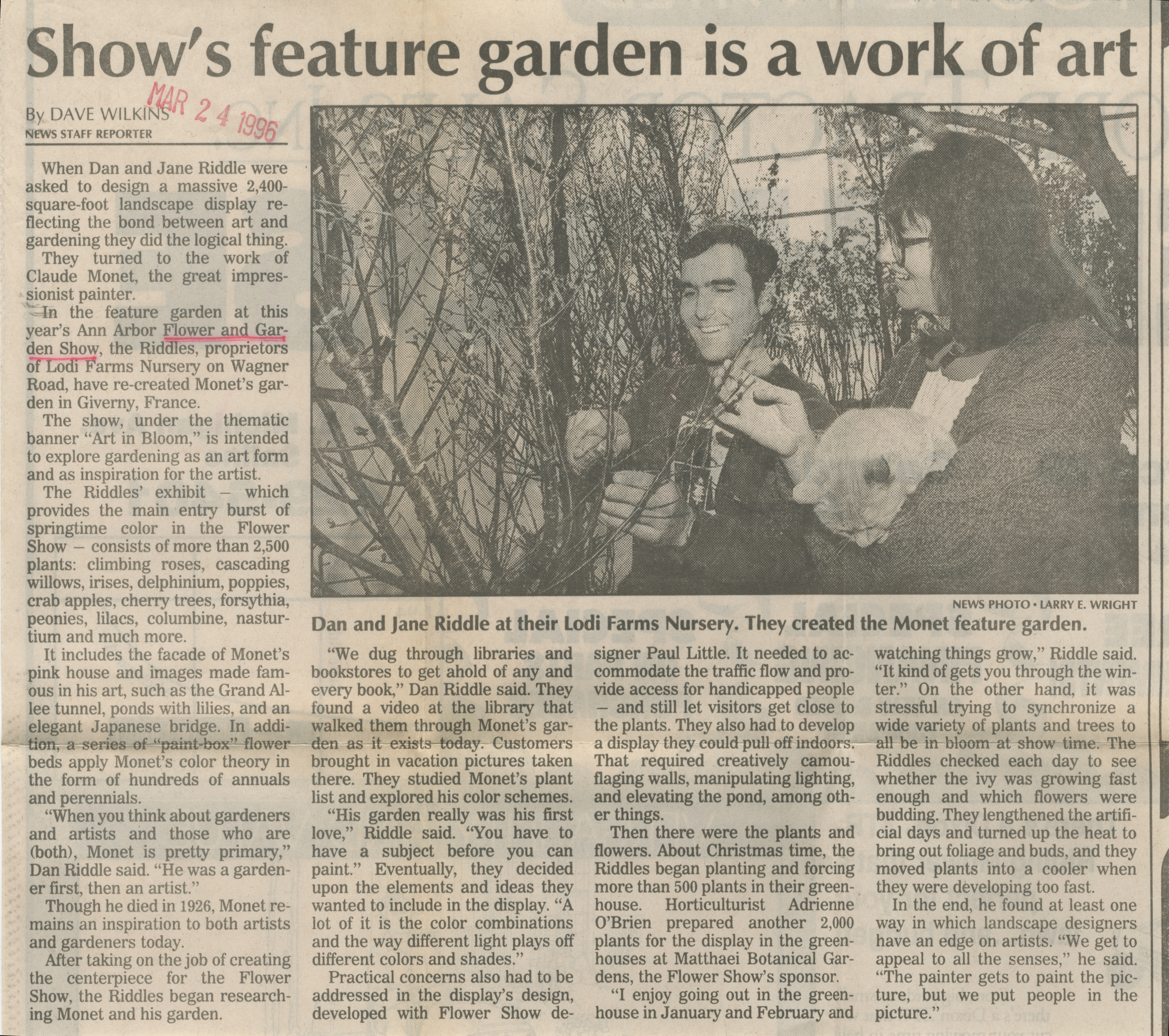 Show's Feature Garden Is A Work of Art image