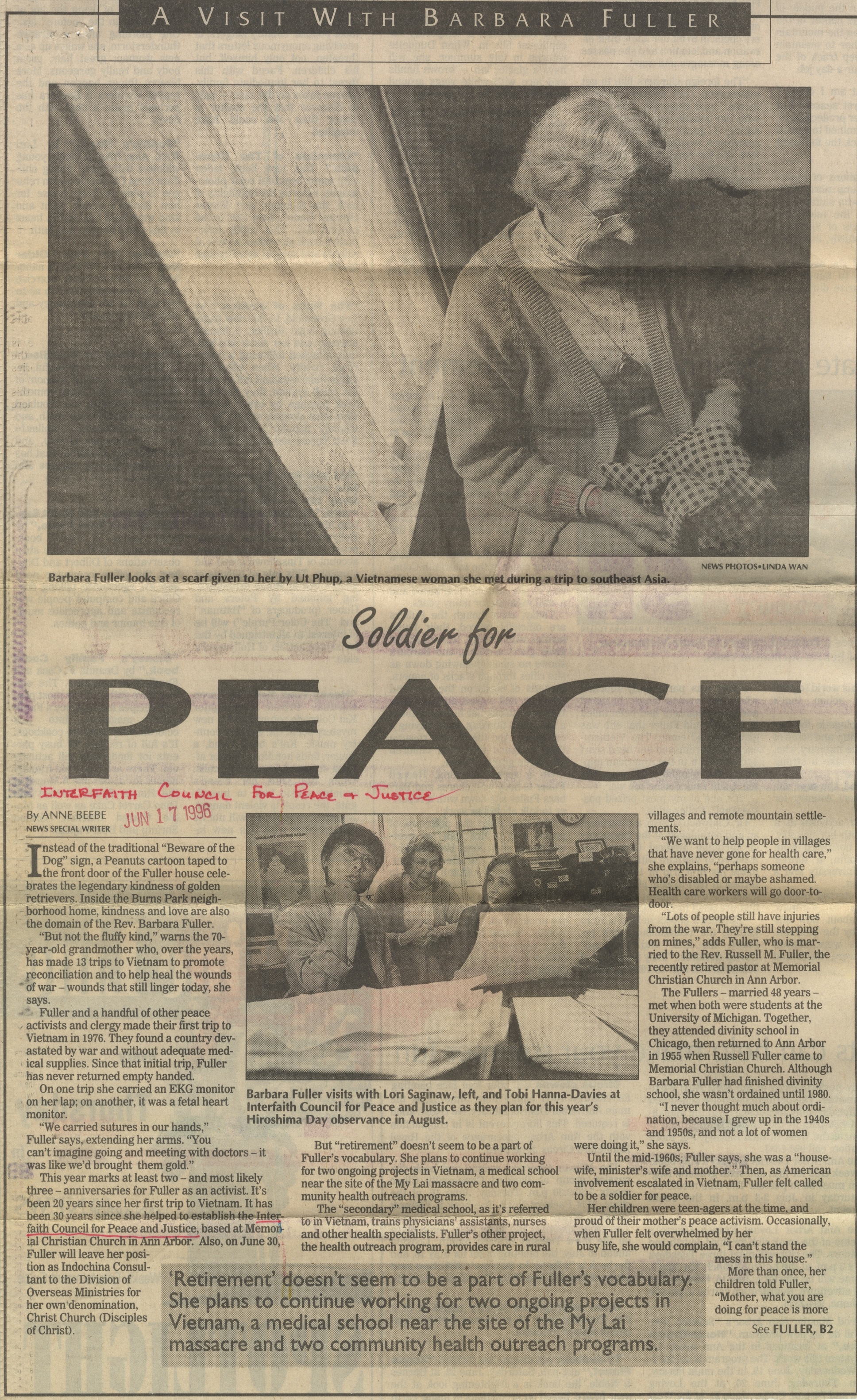 A Visit With Barbara Fuller: Soldier For Peace image