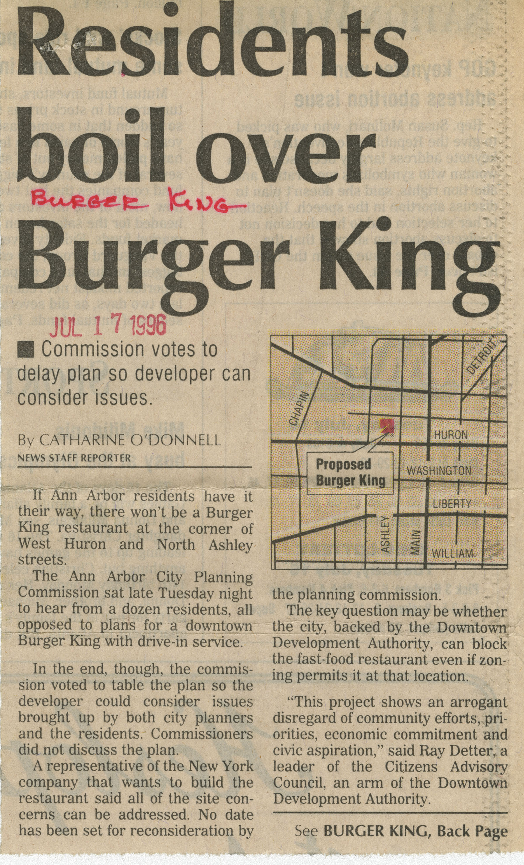 Residents boil over Burger King image