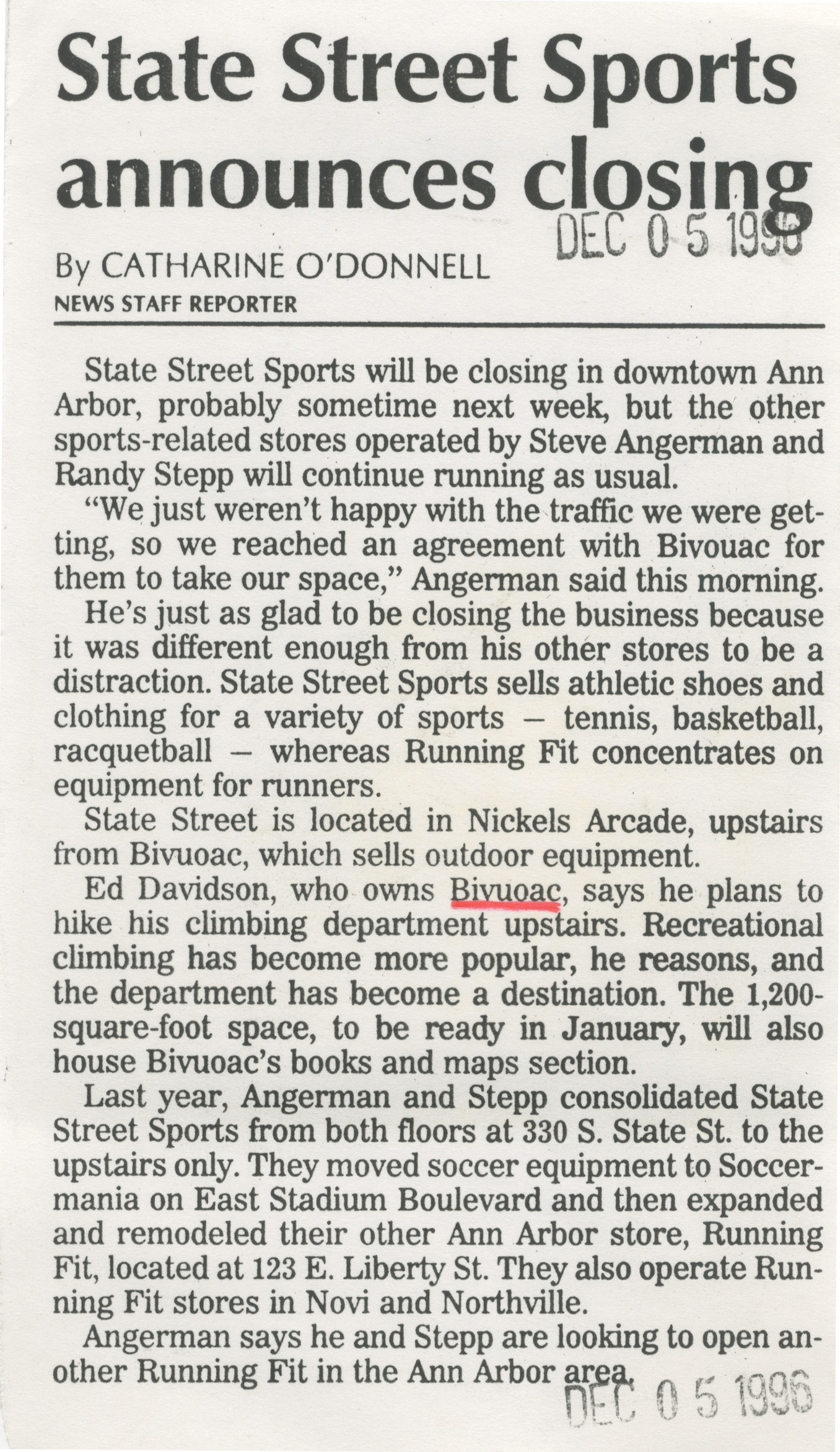 State Street Sports Announces Closing image