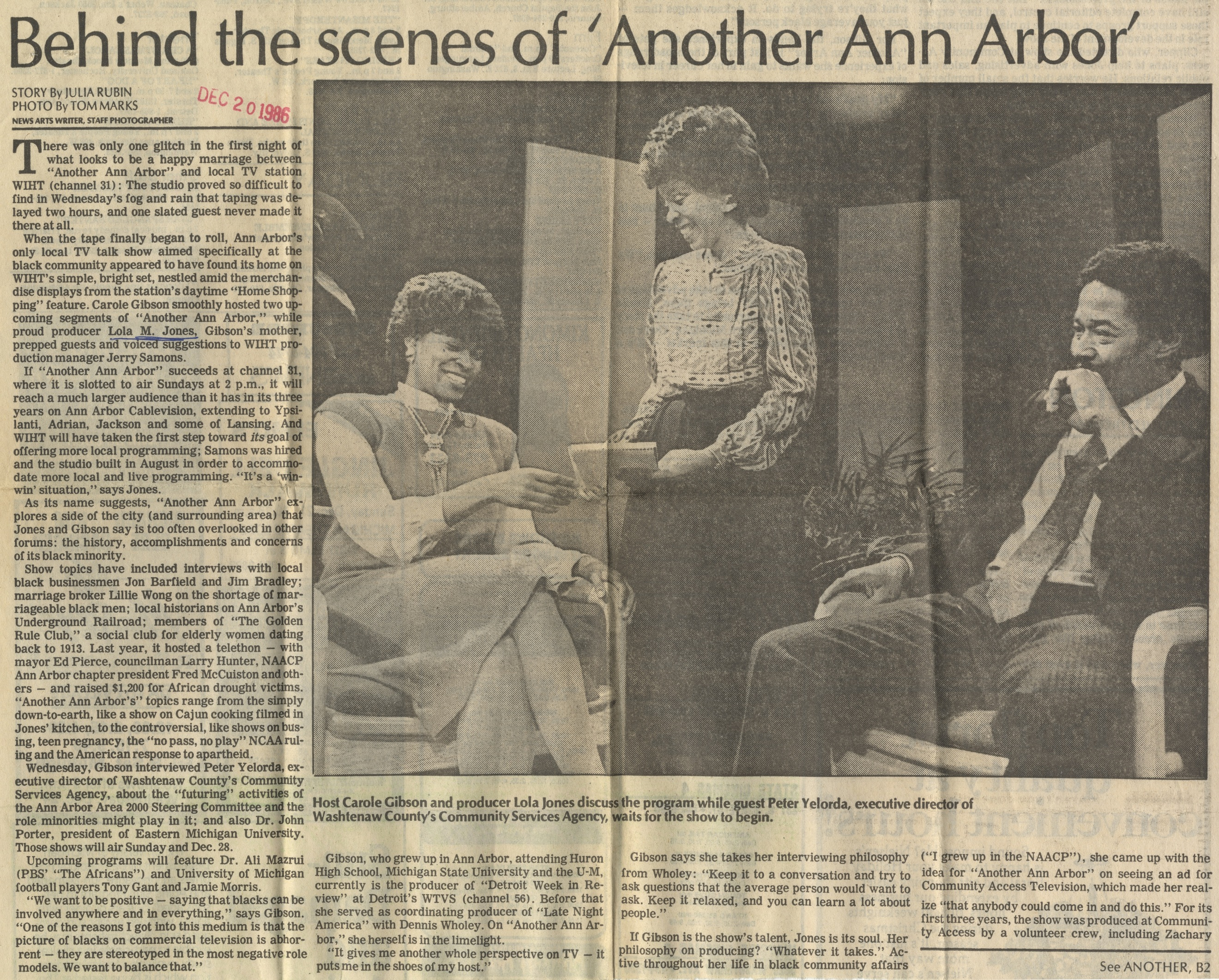 Behind The Scenes Of 'Another Ann Arbor' image