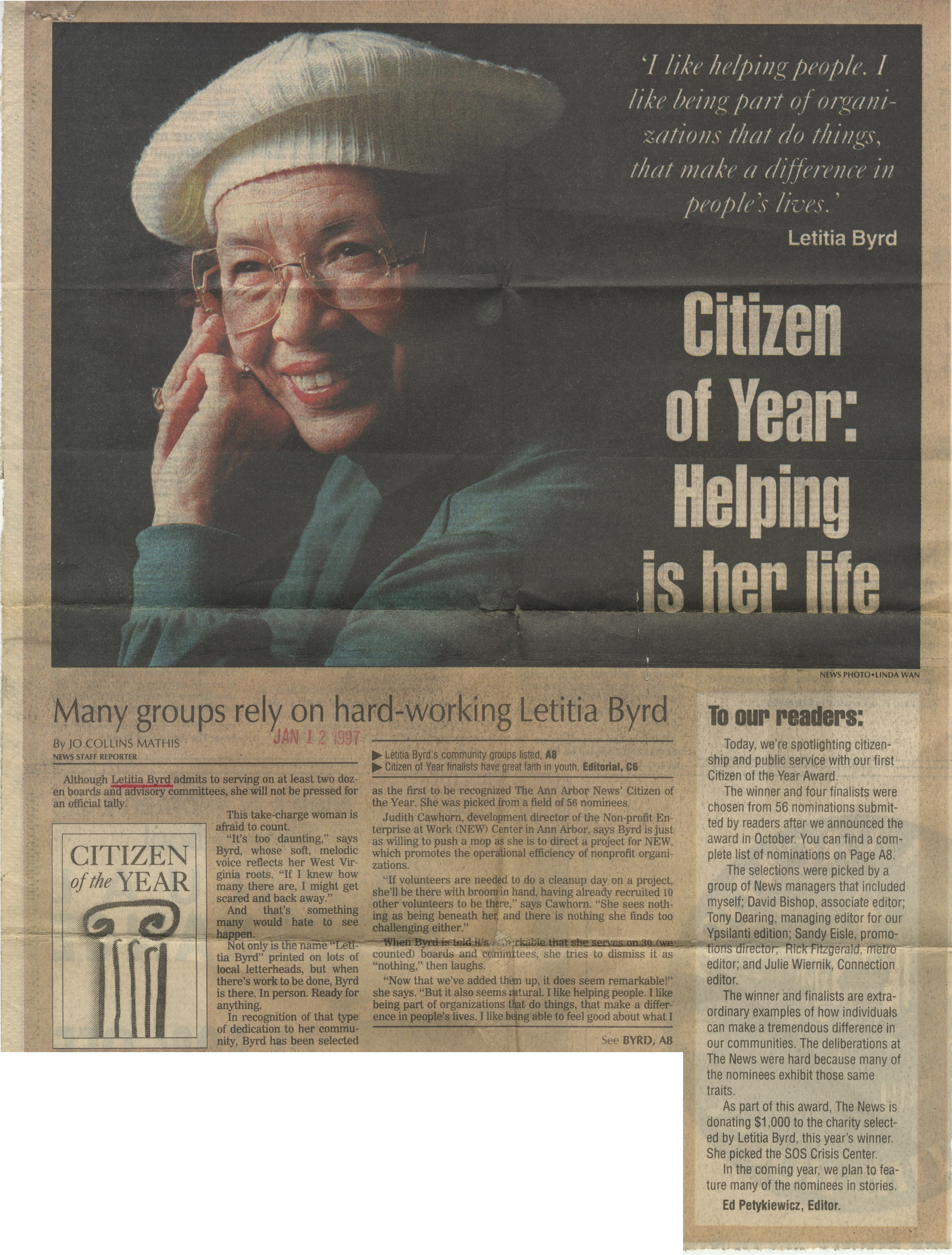 Citizen Of The Year: Helping Is Her Life image