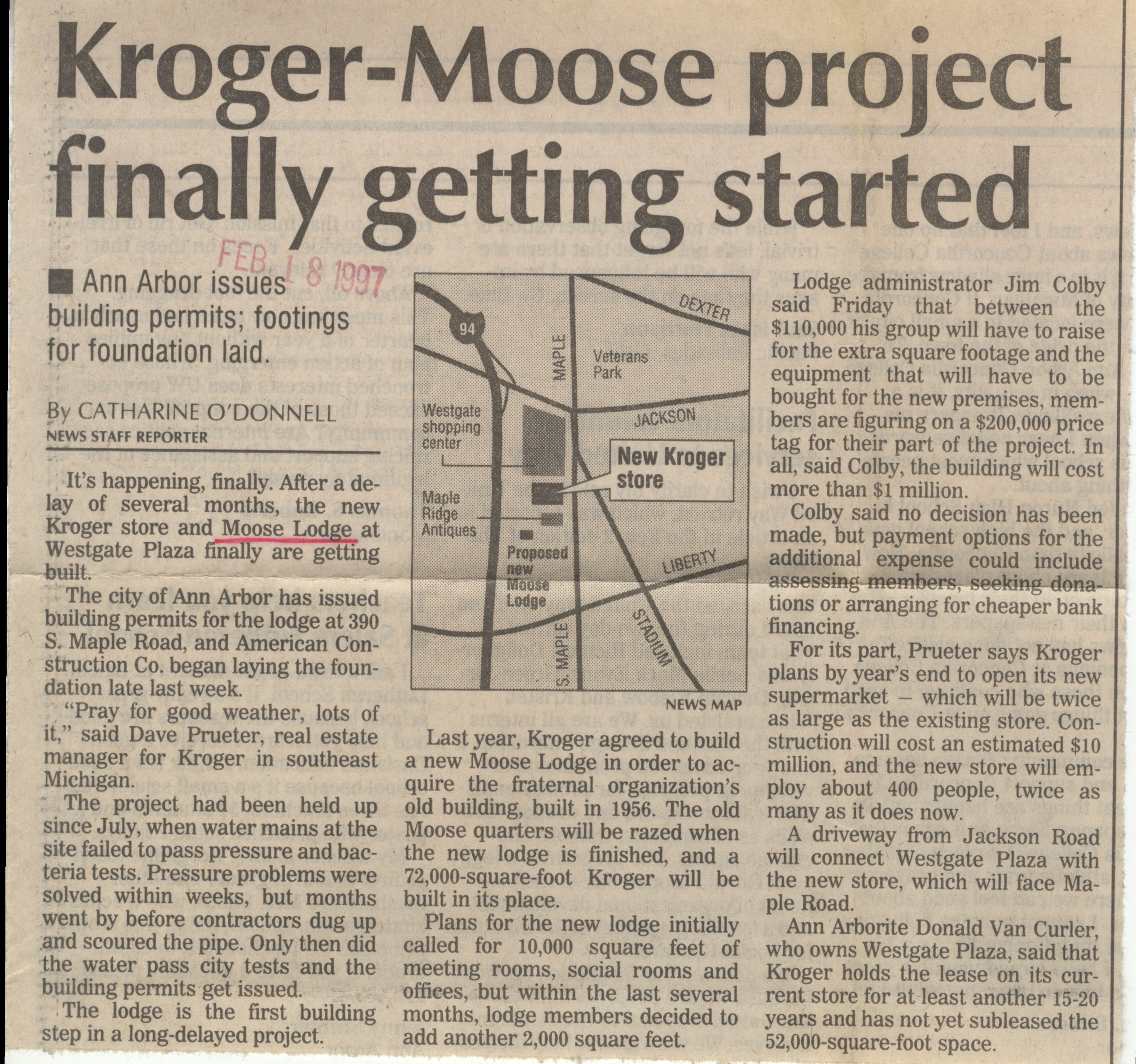 Kroger-Moose project finally getting started image
