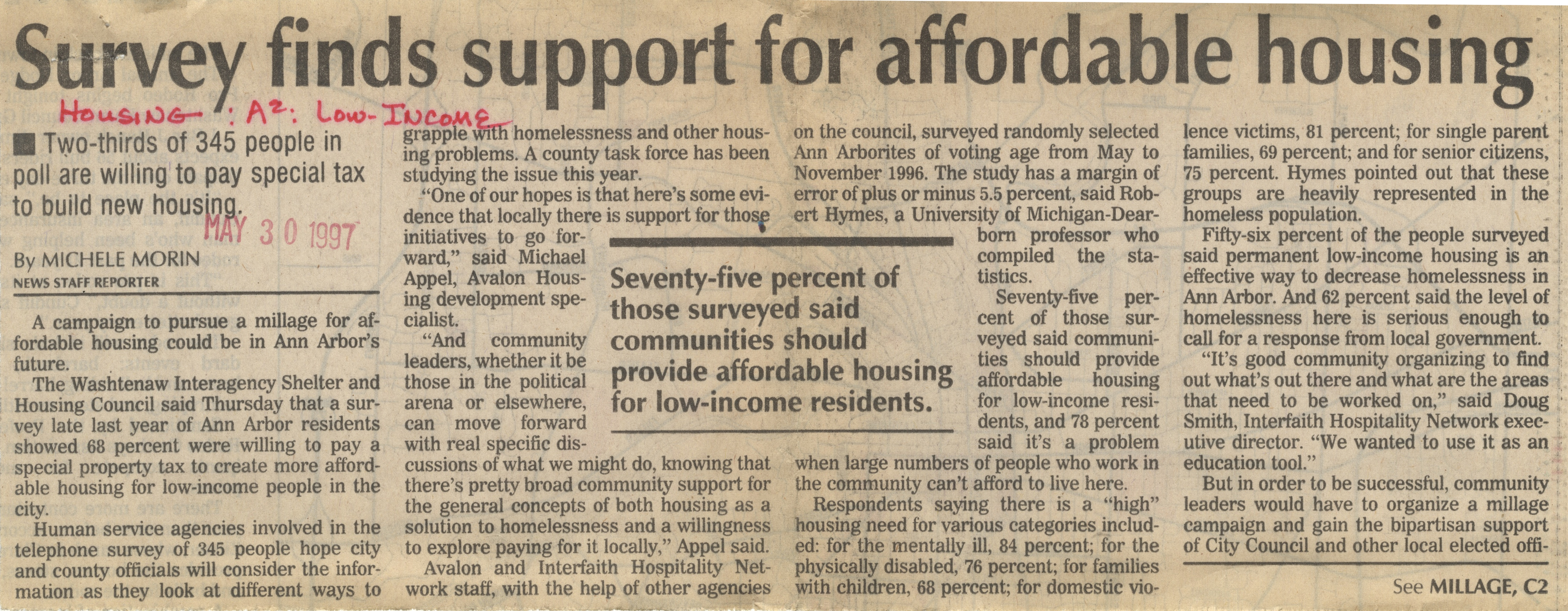 Survey Finds Support for Affordable Housing image