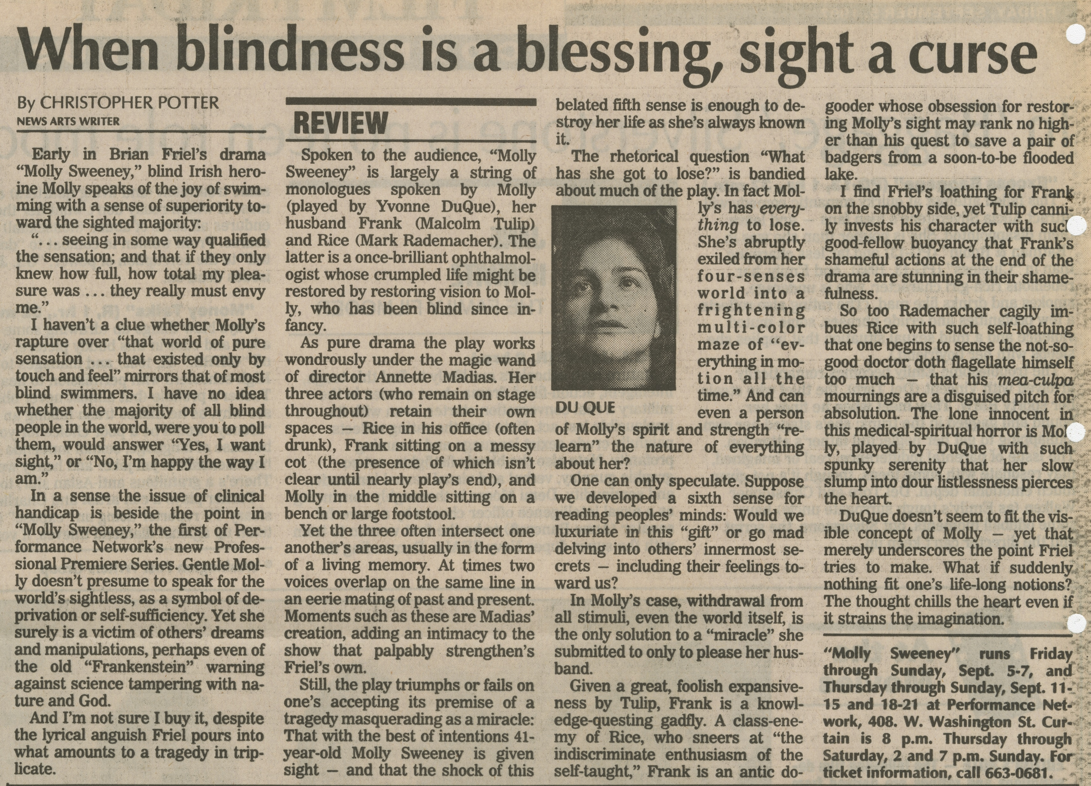 When blindness is a blessing, sight a curse image