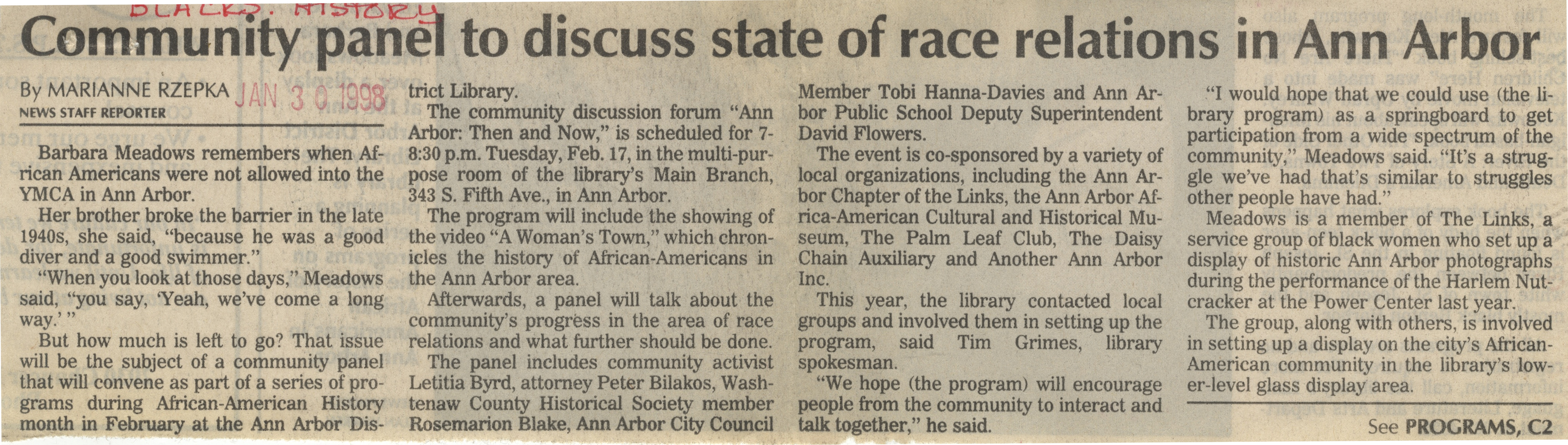 Community Panel To Discuss State Of Race Relations In Ann Arbor image