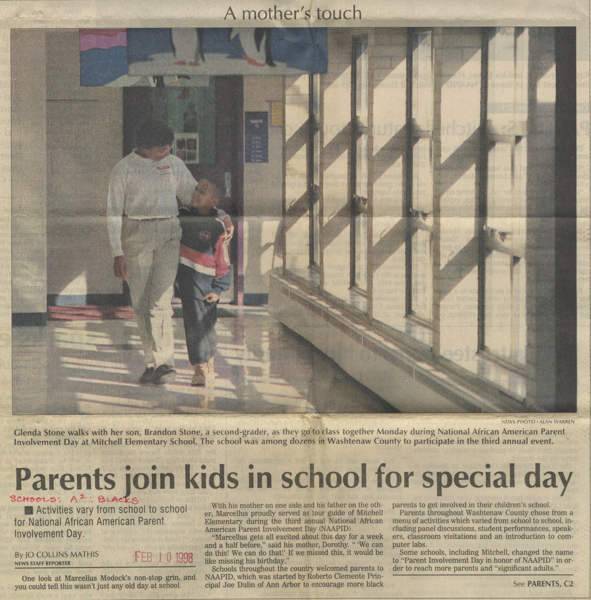 Parents Join Kids In School For Special Day image