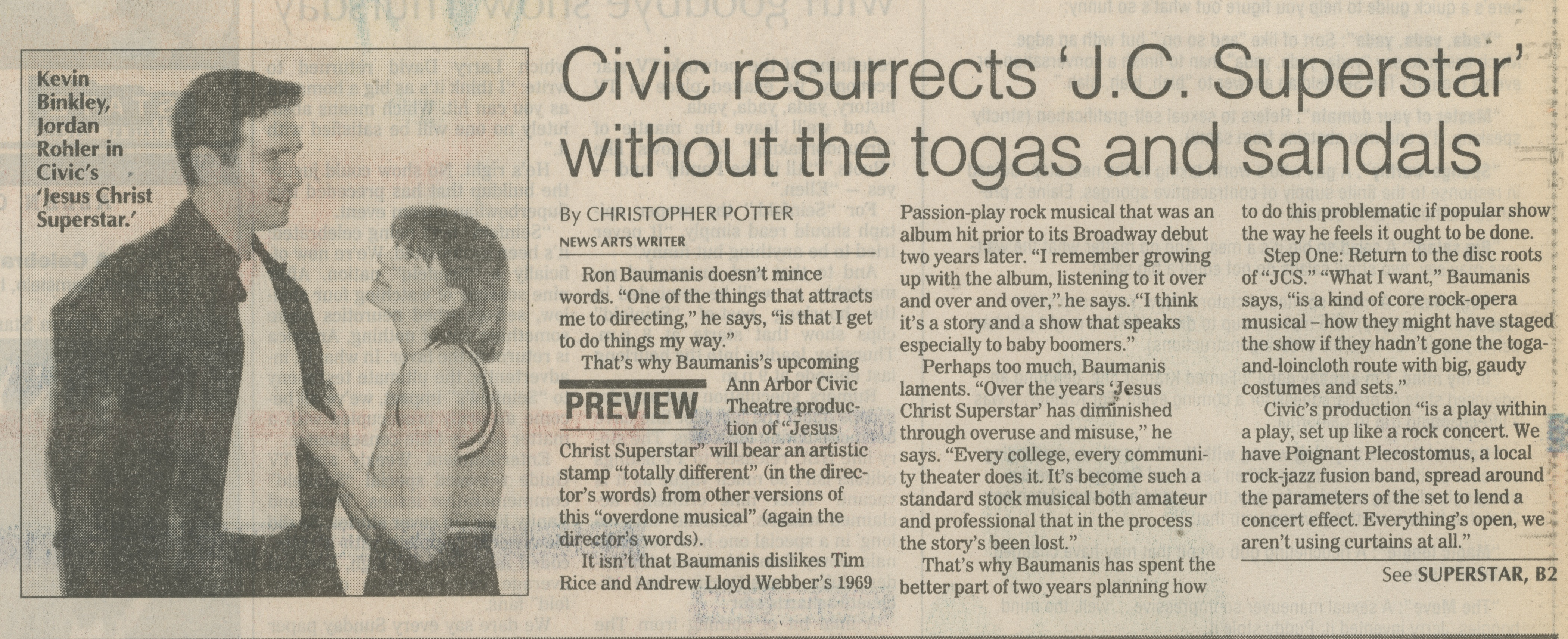 Civic Resurrects 'J.C. Superstar' Without The Togas And Sandals image