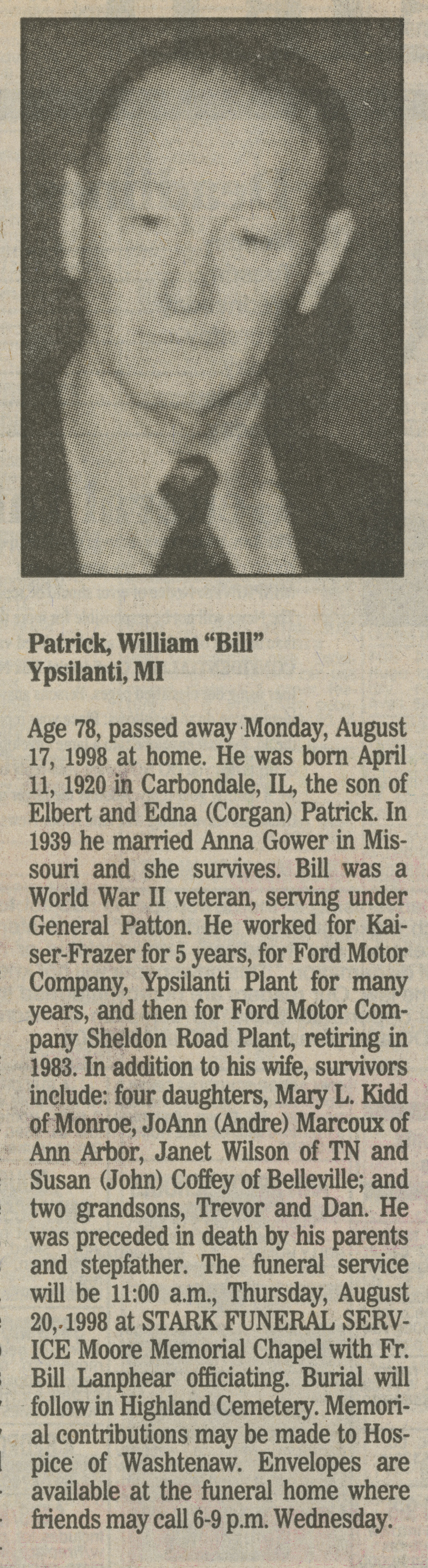 "William ""Bill"" Patrick image"