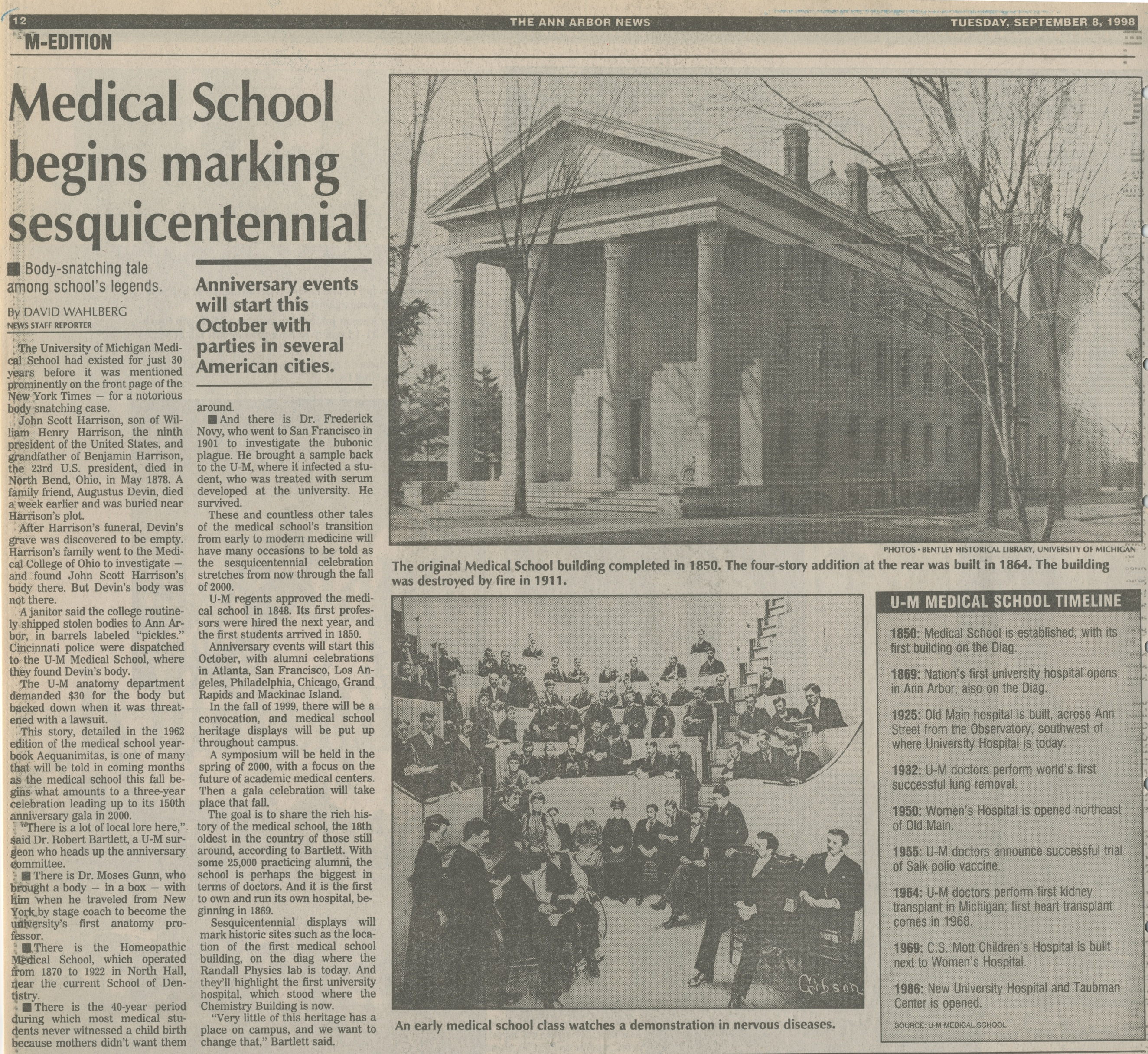 Medical School Begins Marking Sesquicentennial image