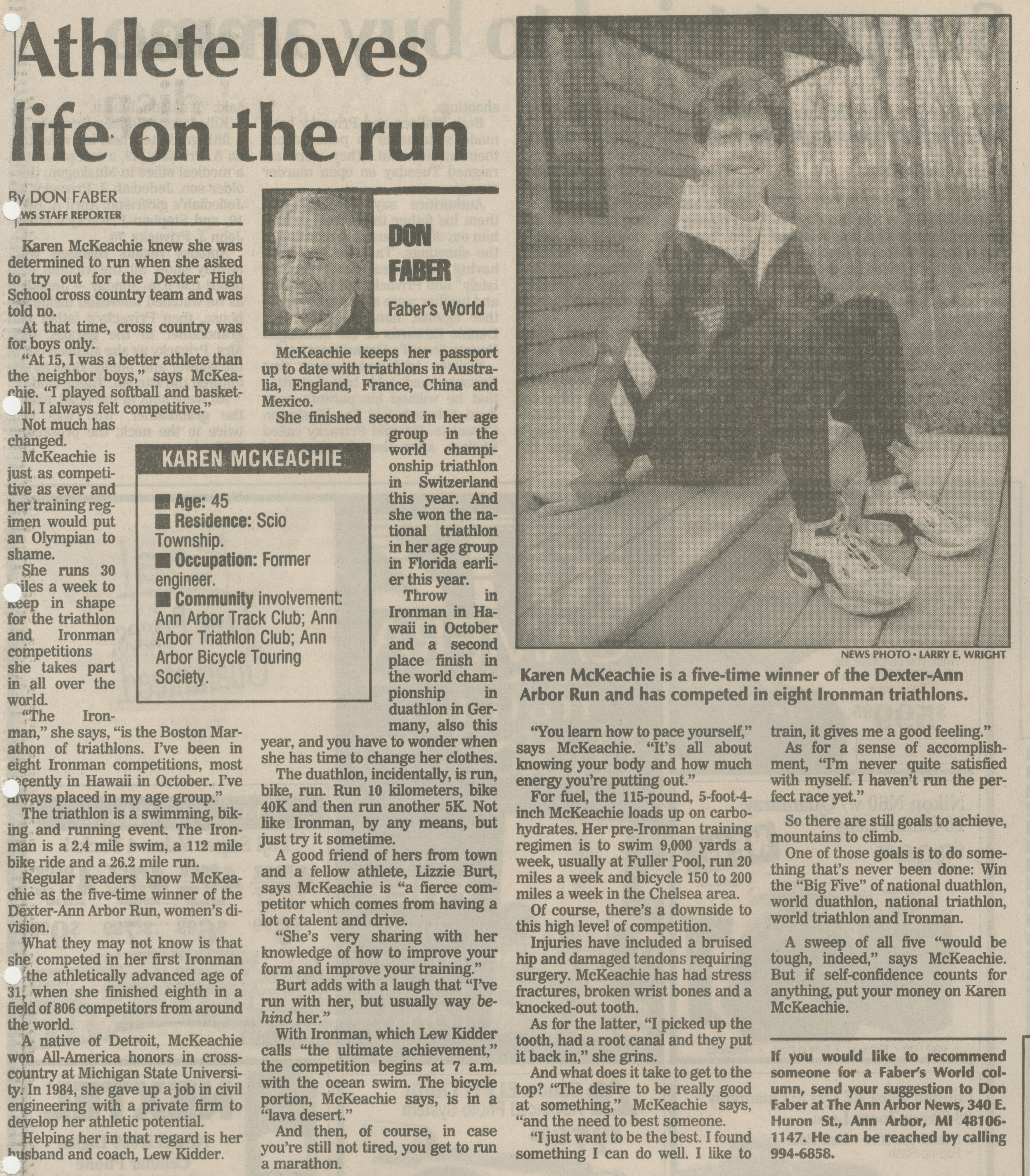 Athlete Loves Life On The Run image