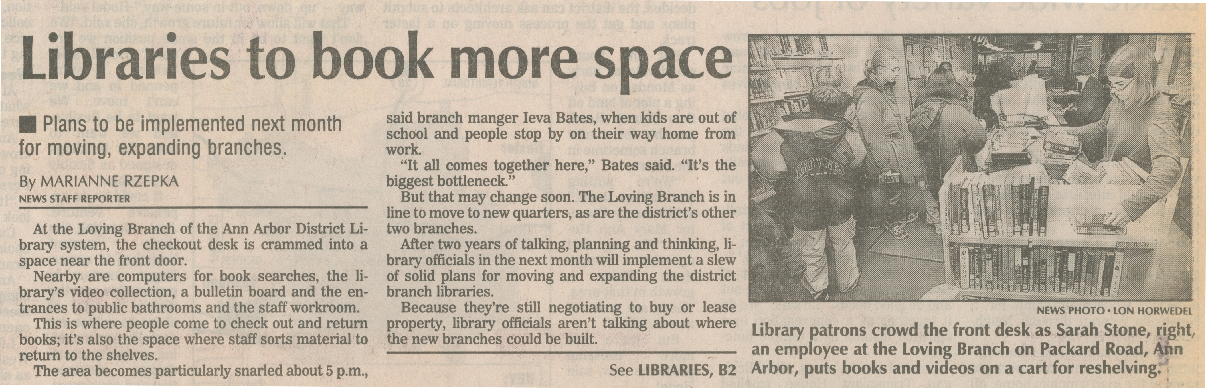 Libraries To Book More Space image