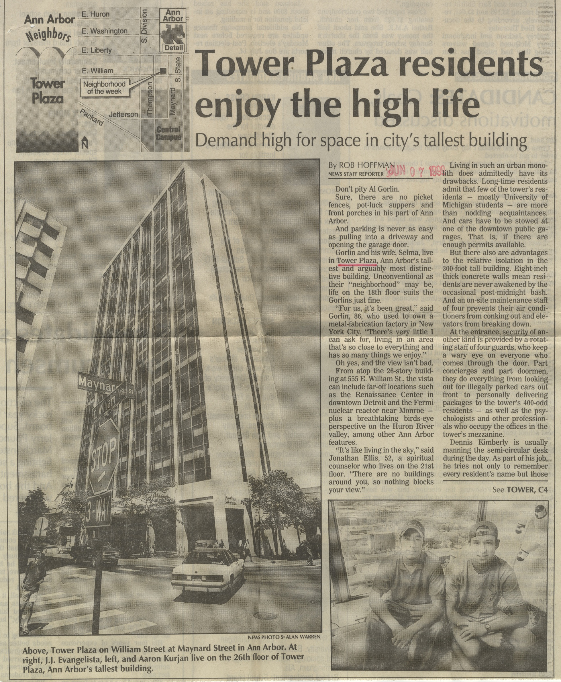 Tower Plaza Residents Enjoy The High Life image