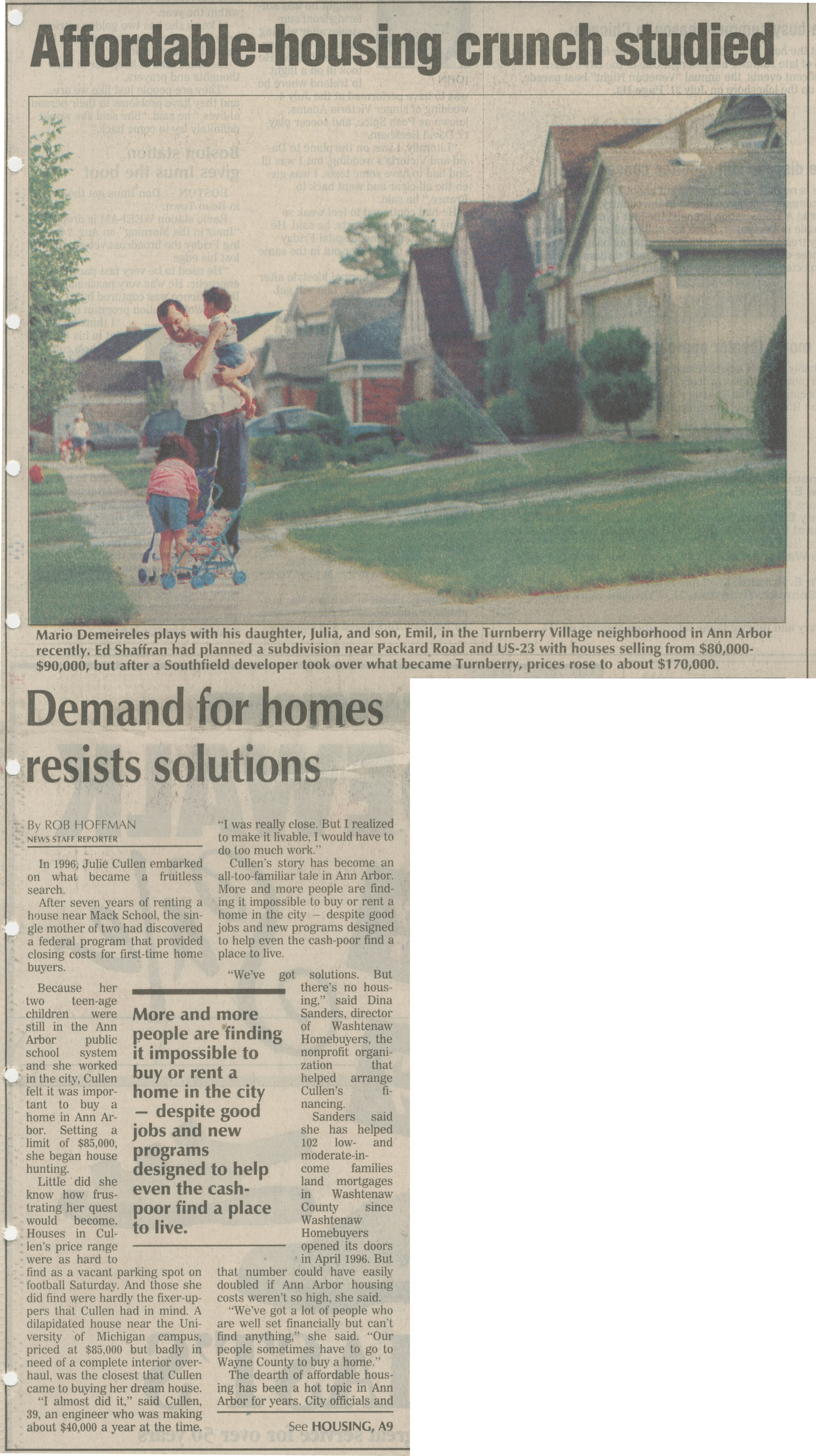 Affordable Housing Crunch Studied: Demand for Homes Resists Solution image