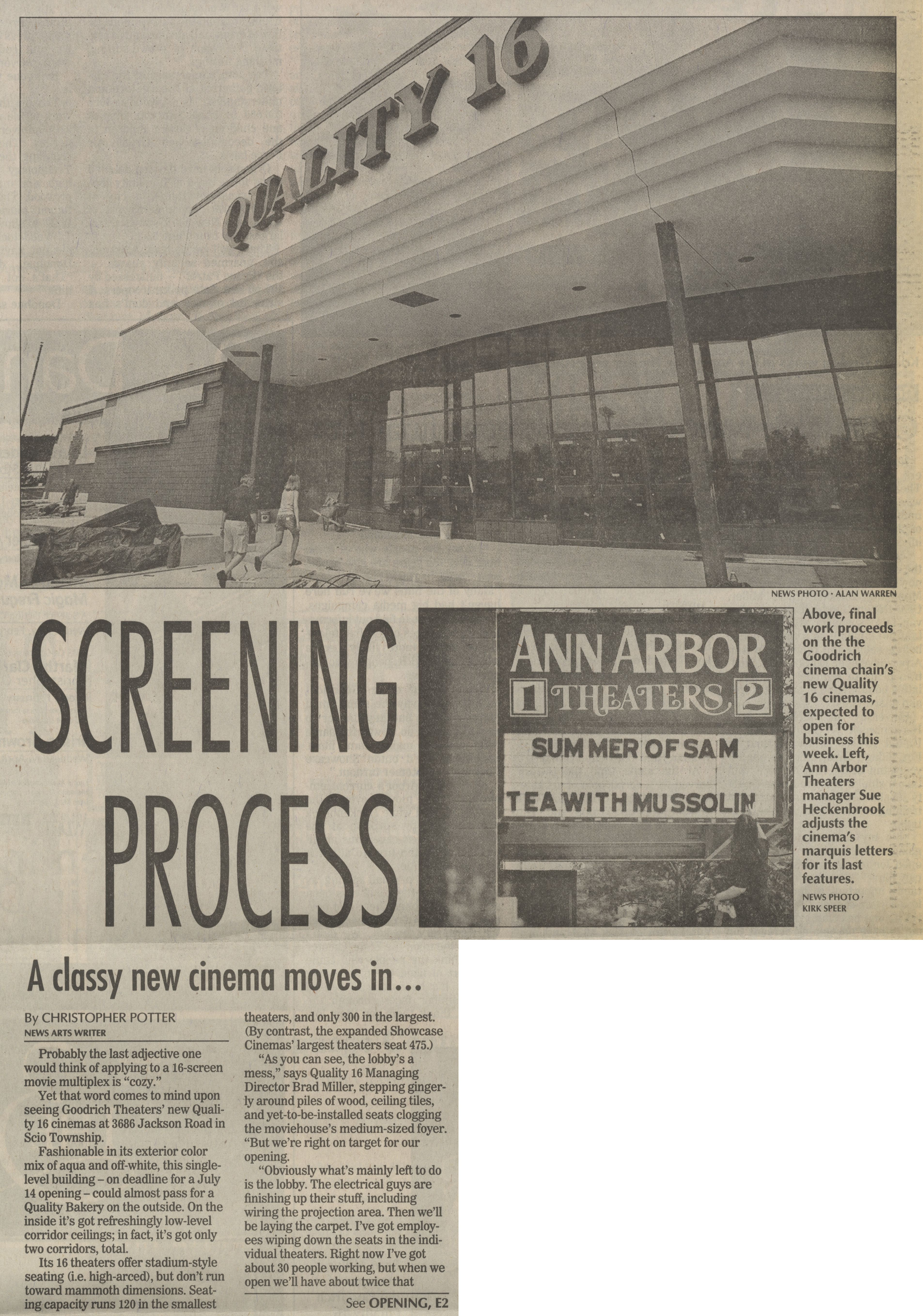 Screening Process: A Classy New Cinema Moves In image