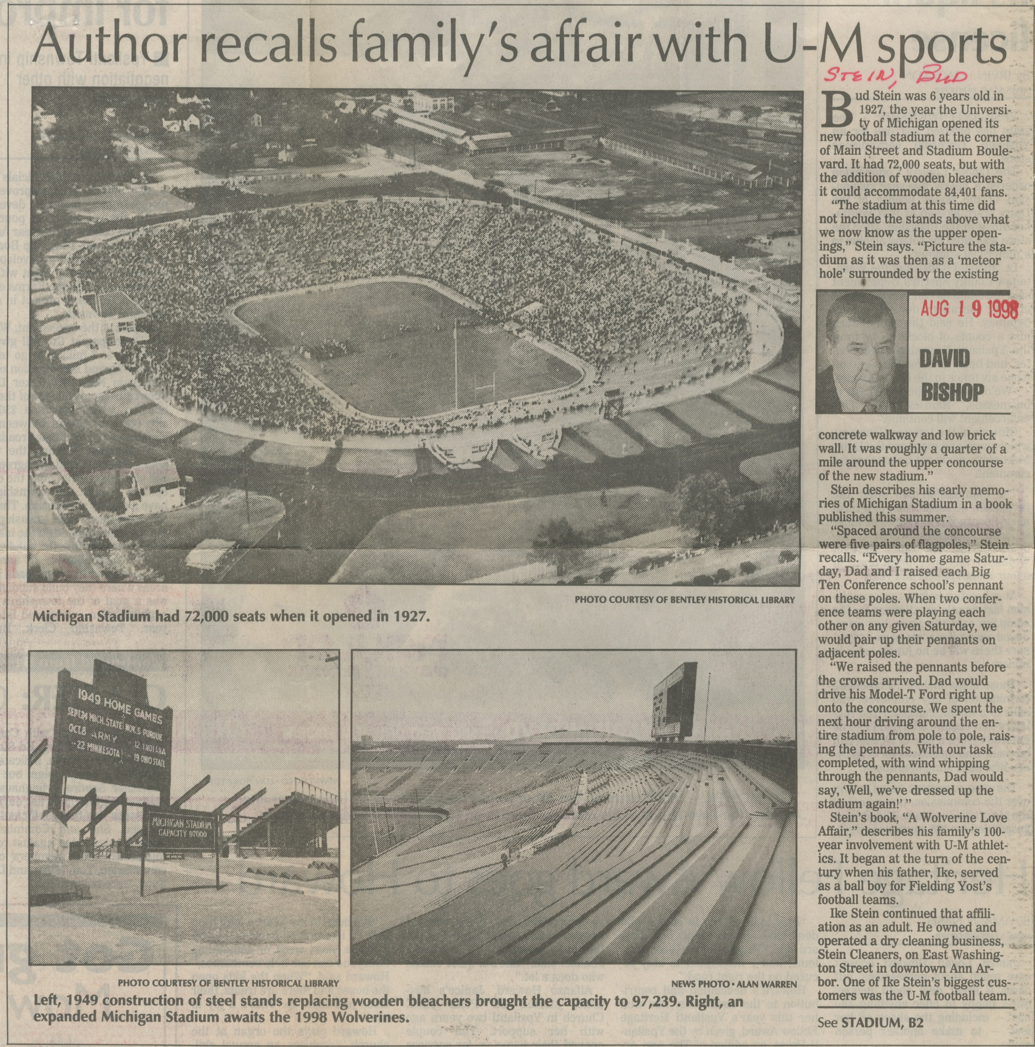 Author Recalls Family's Affair With U-M Sports image