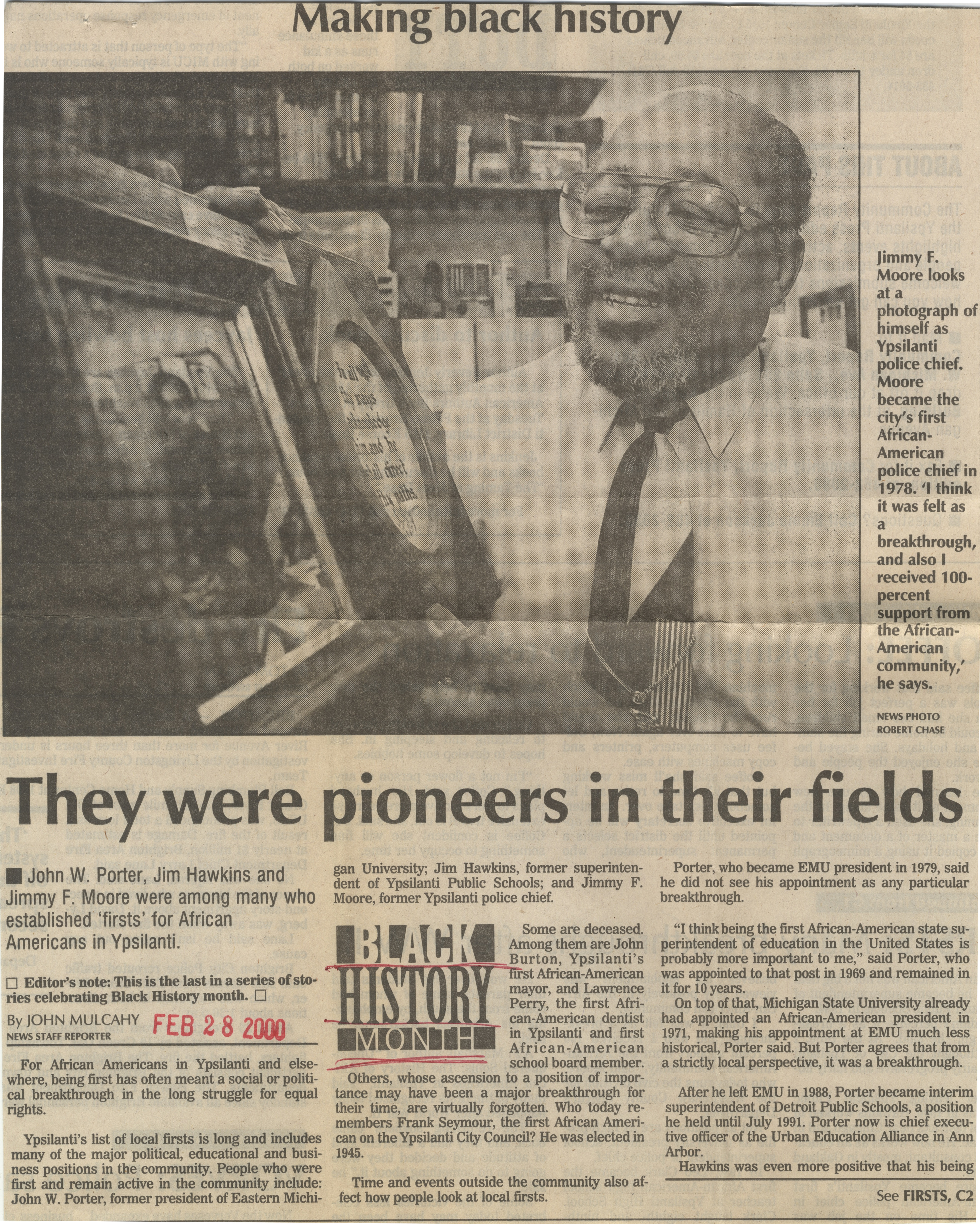 Making Black History: They Were Pioneers In Their Fields image