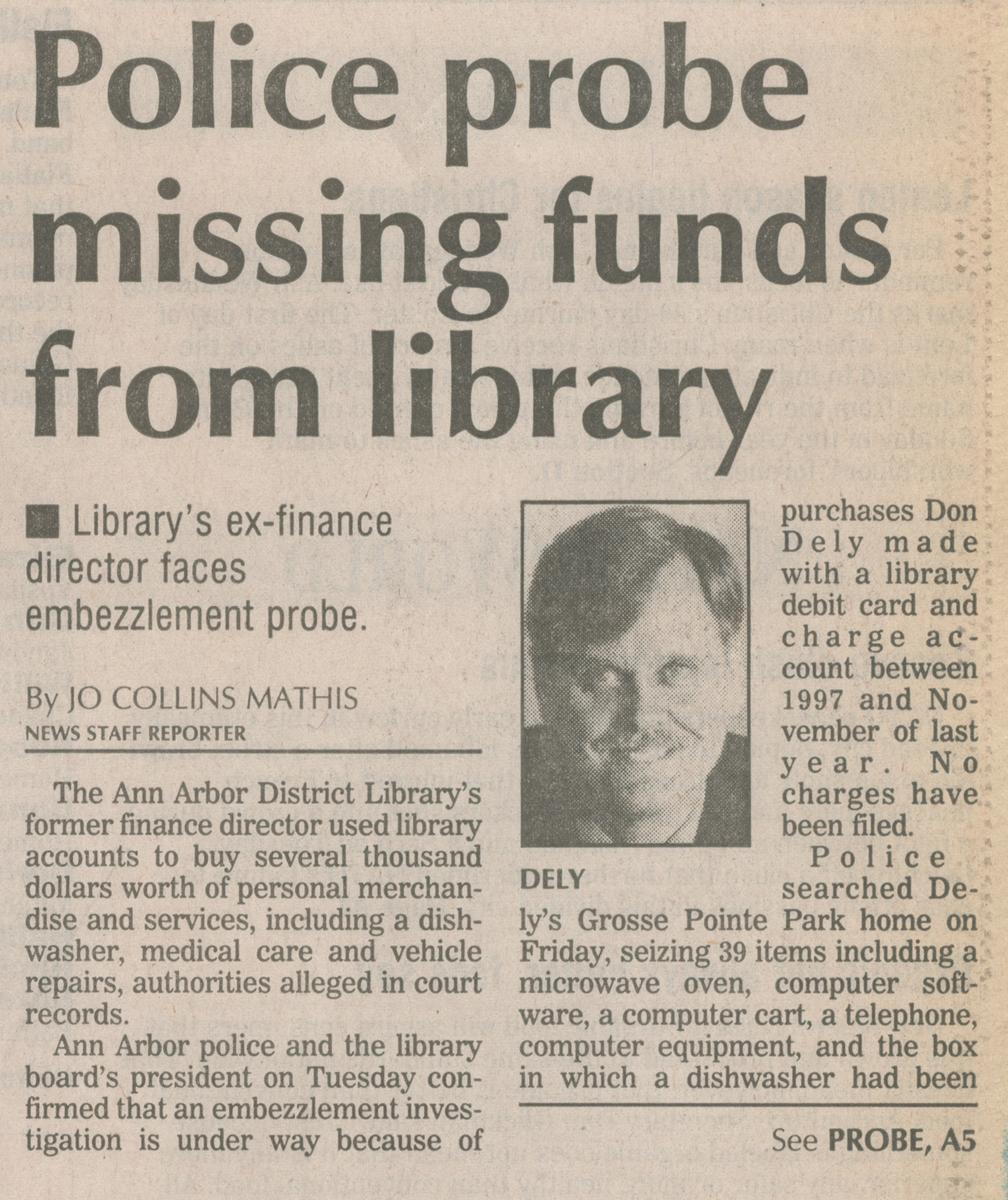 Police Probe Missing Funds From Library image